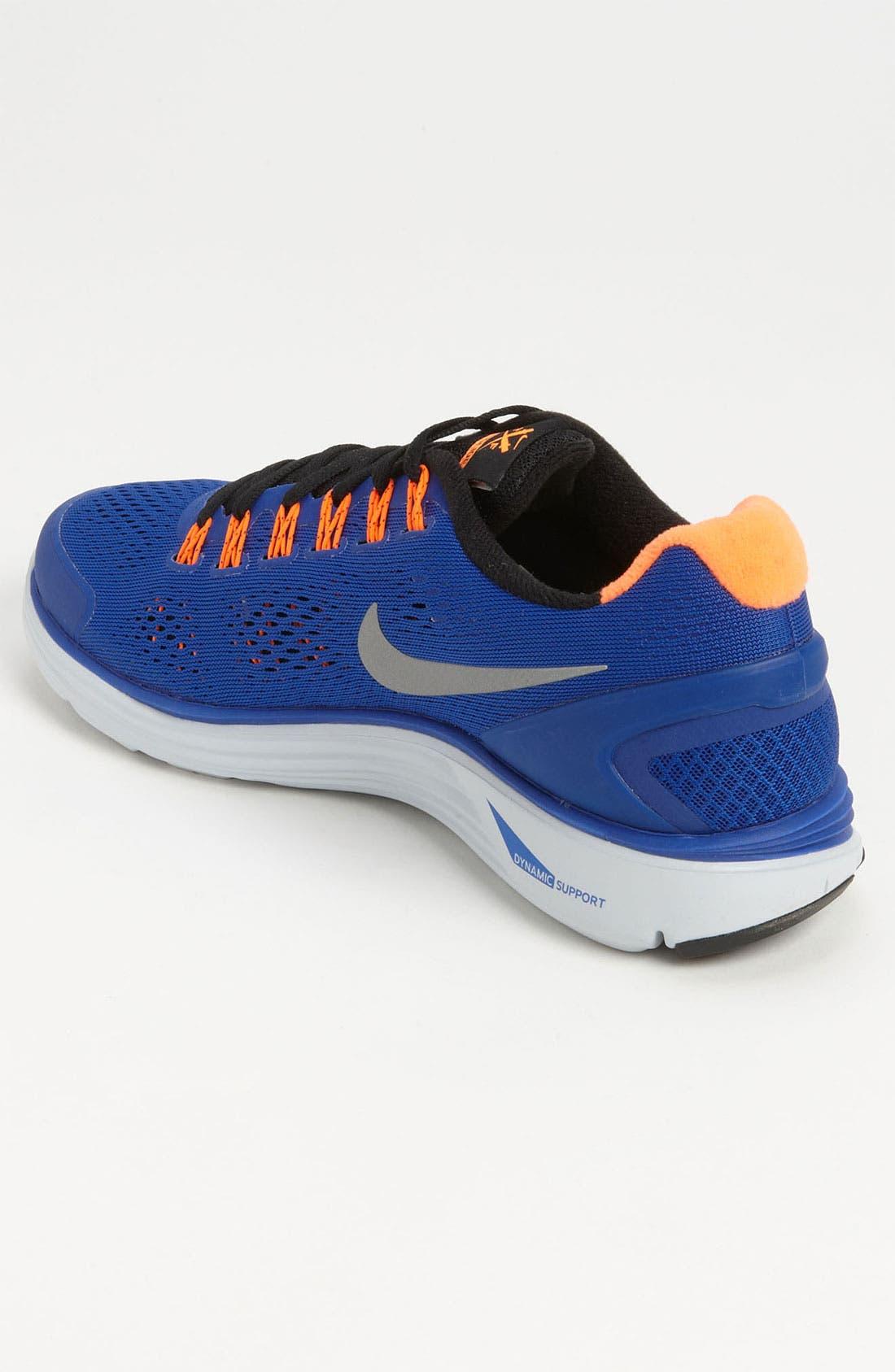 Alternate Image 2  - Nike 'LunarGlide+ 4' Running Shoe (Men)