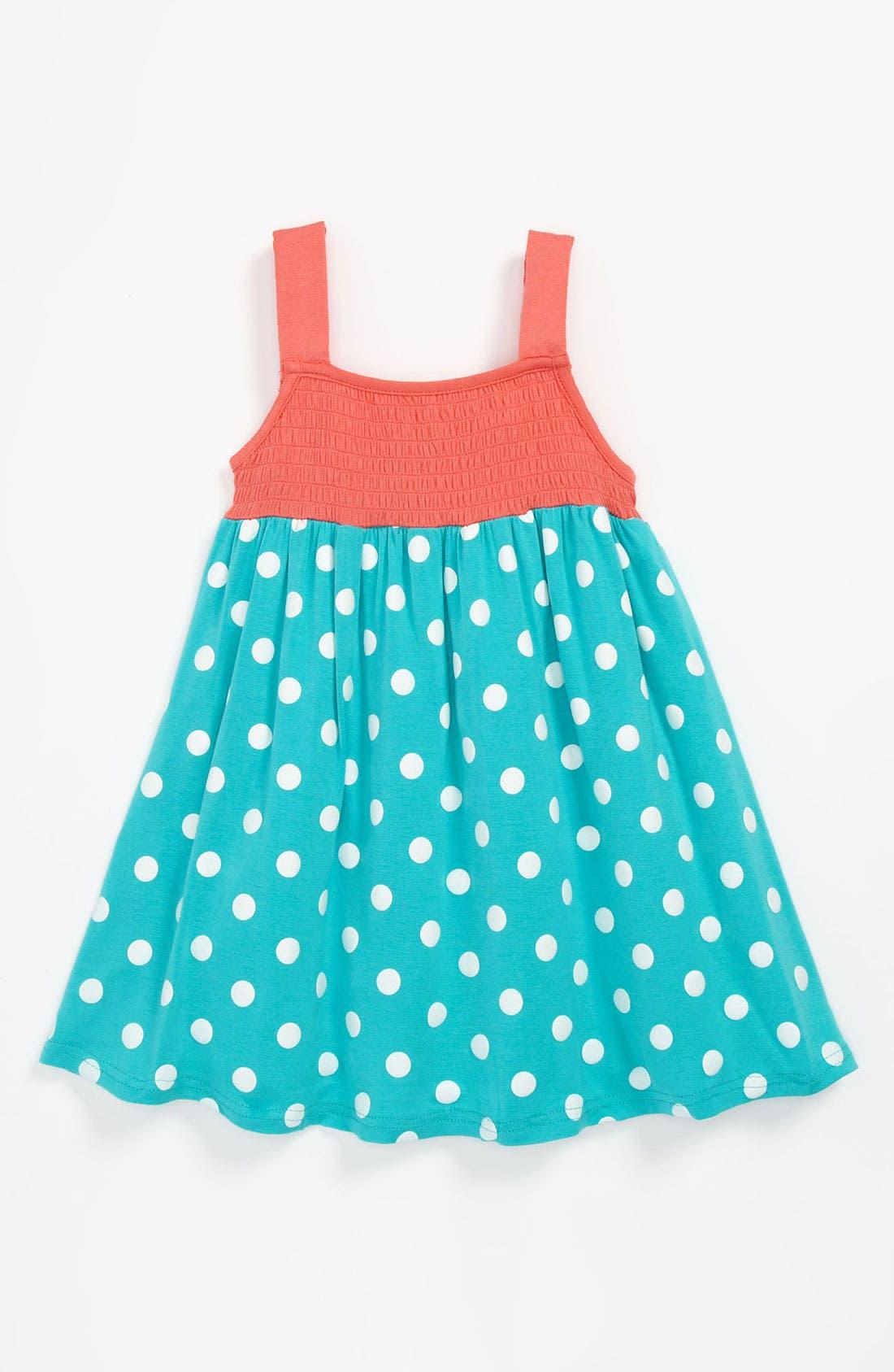Alternate Image 1 Selected - Pumpkin Patch Polka Dot Dress (Baby)
