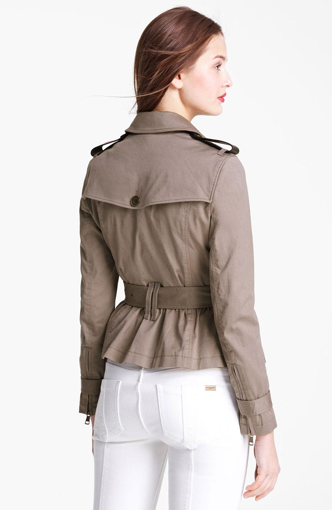 Alternate Image 2  - Burberry Brit 'Faulkbourne' Trench Coat (Online Only)