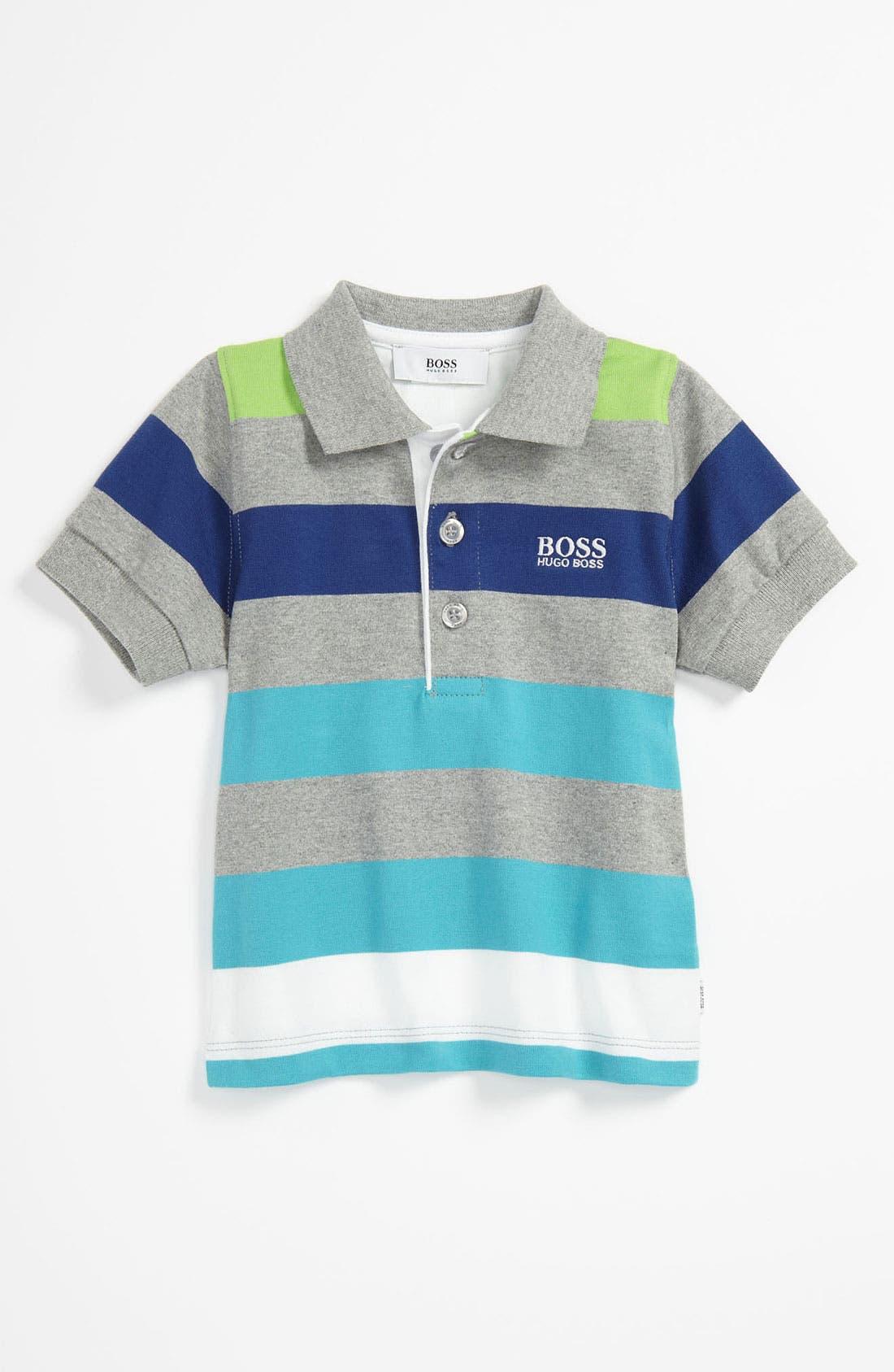 Main Image - BOSS Kidswear Stripe Polo (Baby)