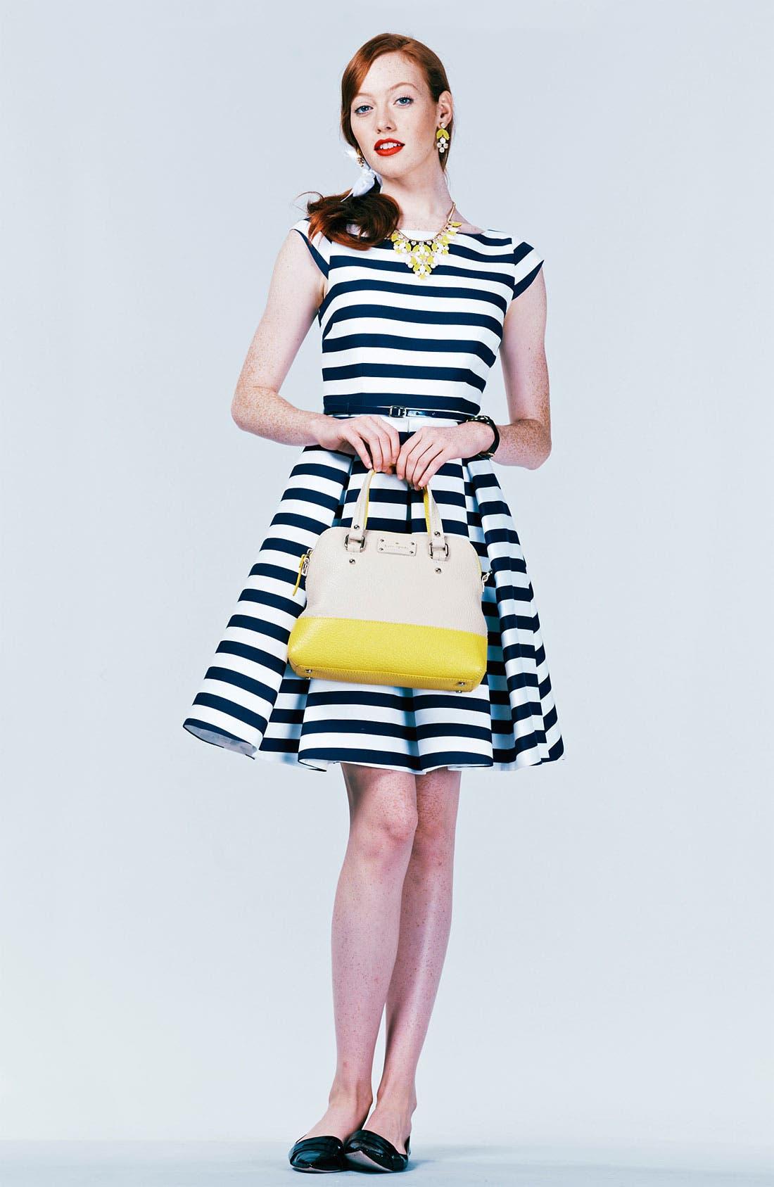 Alternate Image 4  - kate spade new york 'mariella' cotton blend fit & flare dress