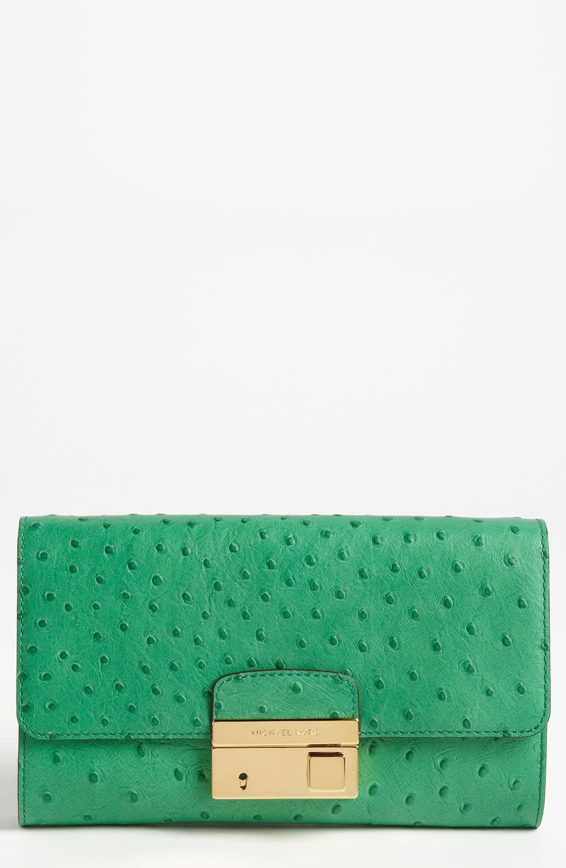 Main Image - Michael Kors 'Gia' Ostrich Embossed Clutch