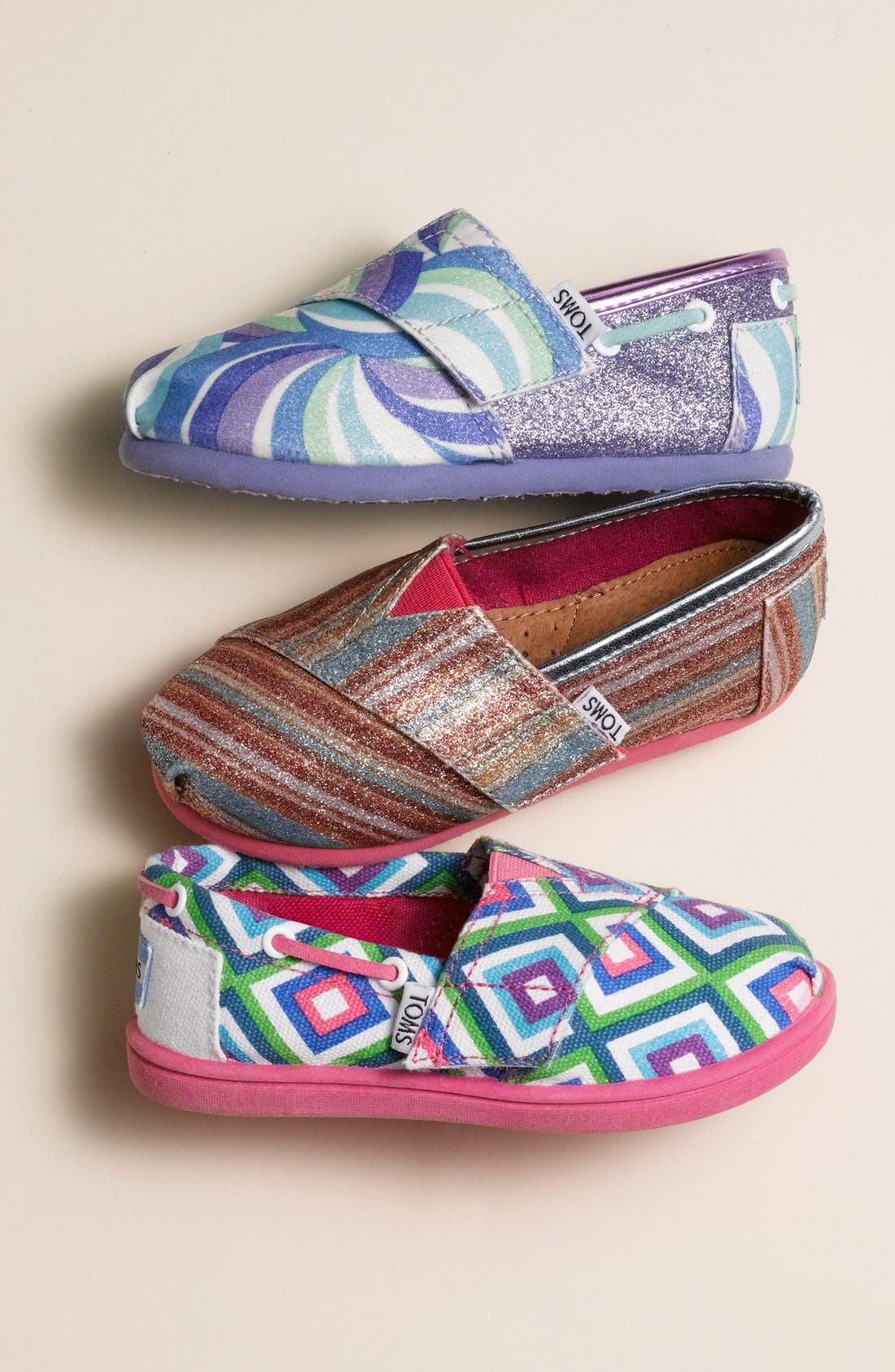 Alternate Image 5  - TOMS 'Classic Tiny - Swirl' Slip-On (Baby, Walker & Toddler)