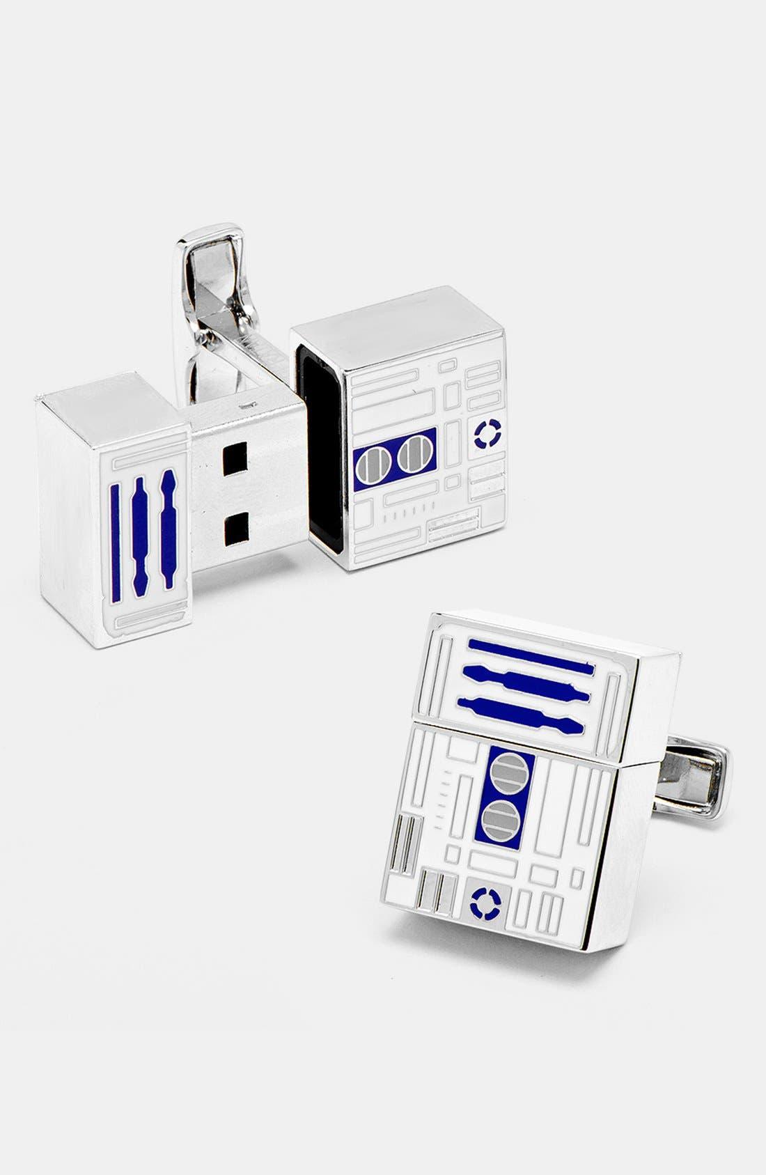 Main Image - Cufflinks, Inc. 'Star Wars™ - R2D2' 4GB Flash Drive Cuff Links
