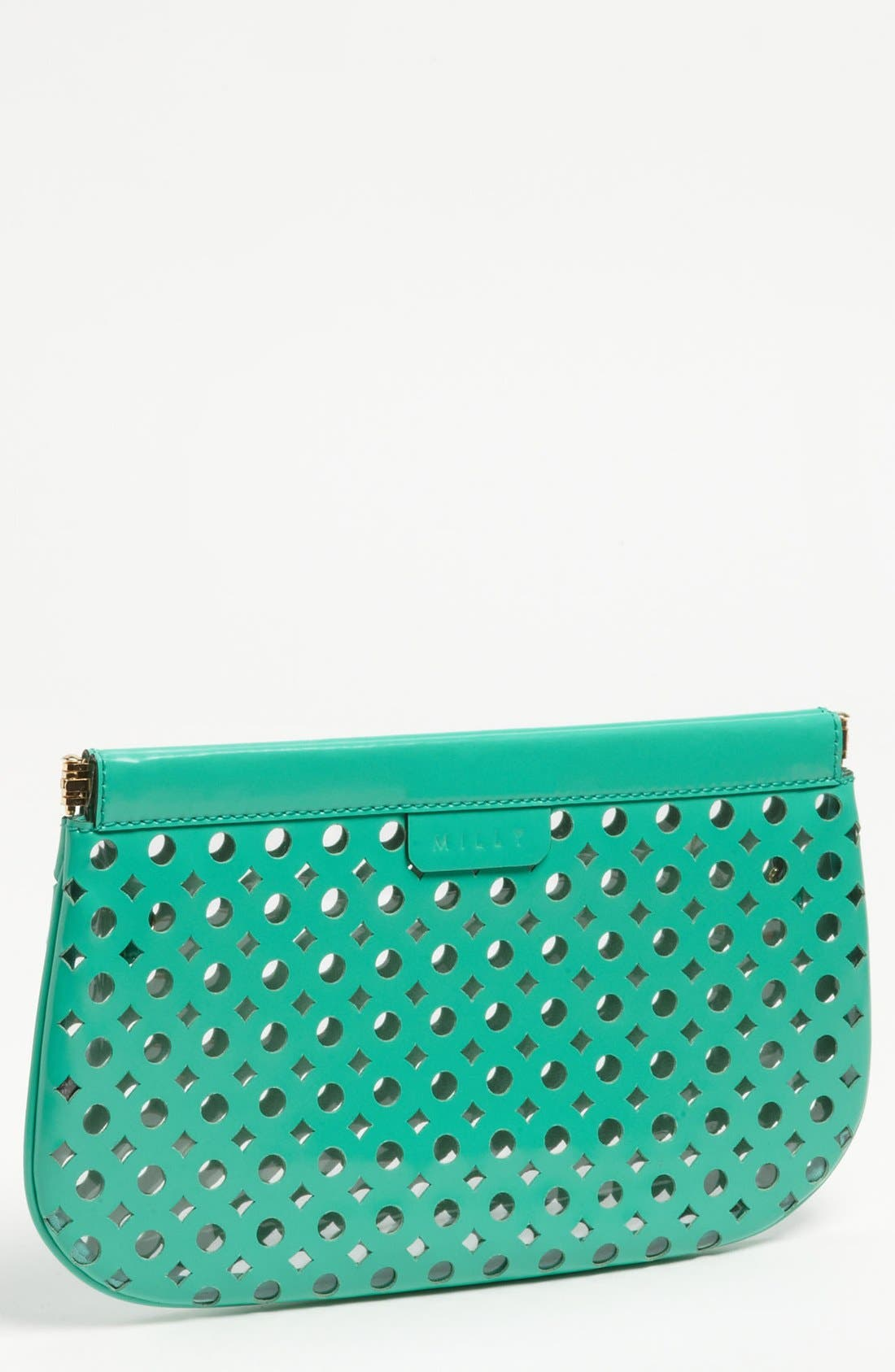 Main Image - Milly 'Addison Facile' Patent Leather Clutch