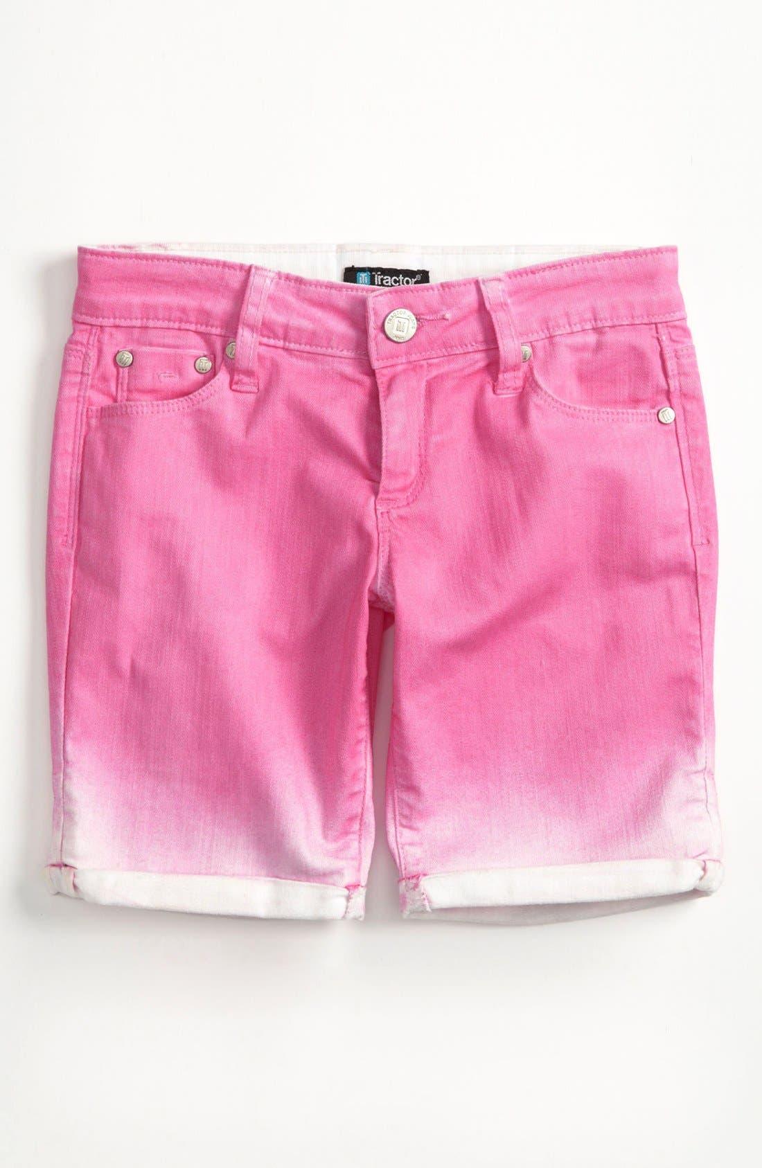 Alternate Image 1 Selected - Tractr Ombré Bermuda Shorts (Big Girls)