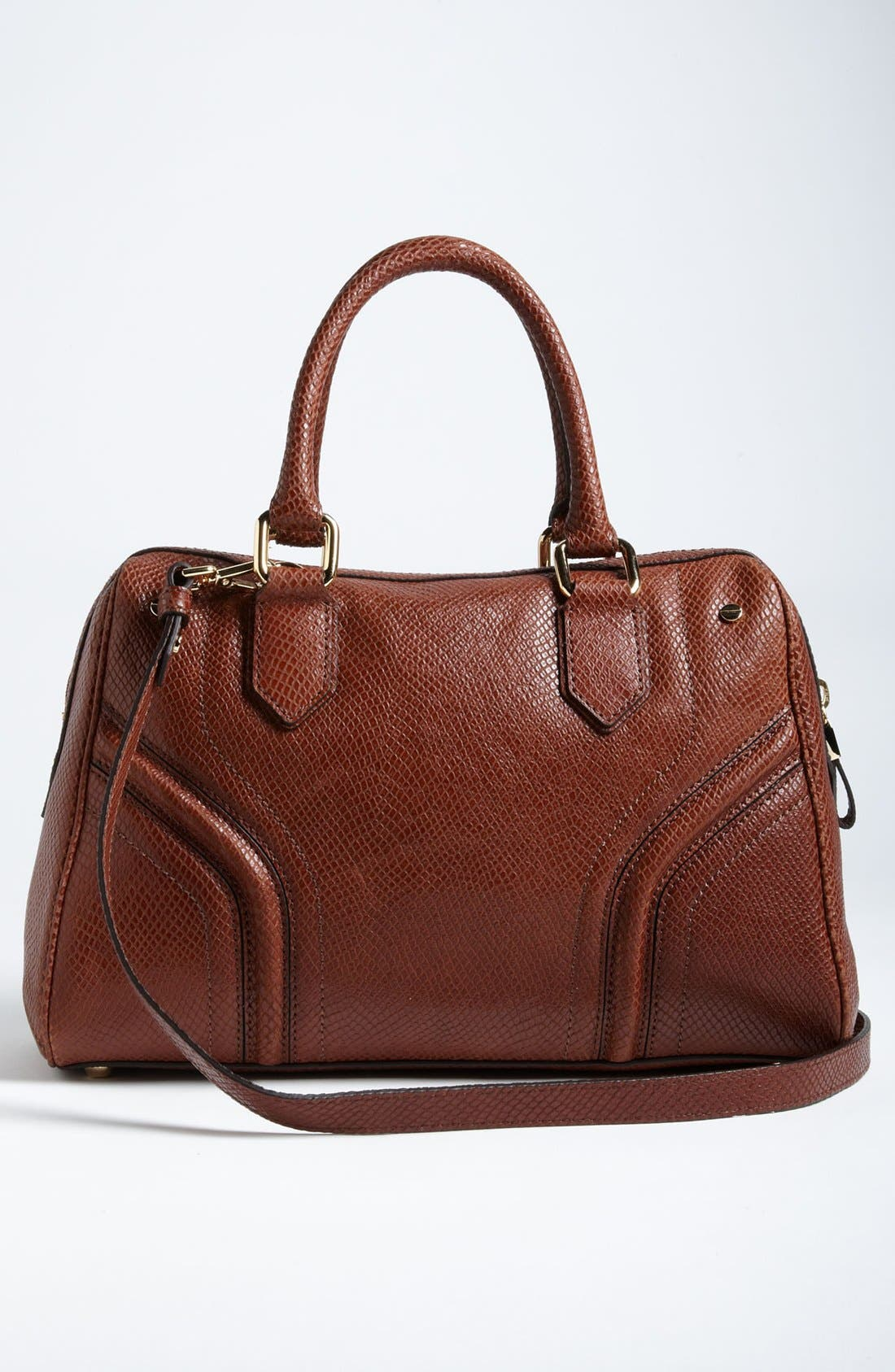 Alternate Image 4  - Milly 'Zoey' Snake Embossed Leather Satchel
