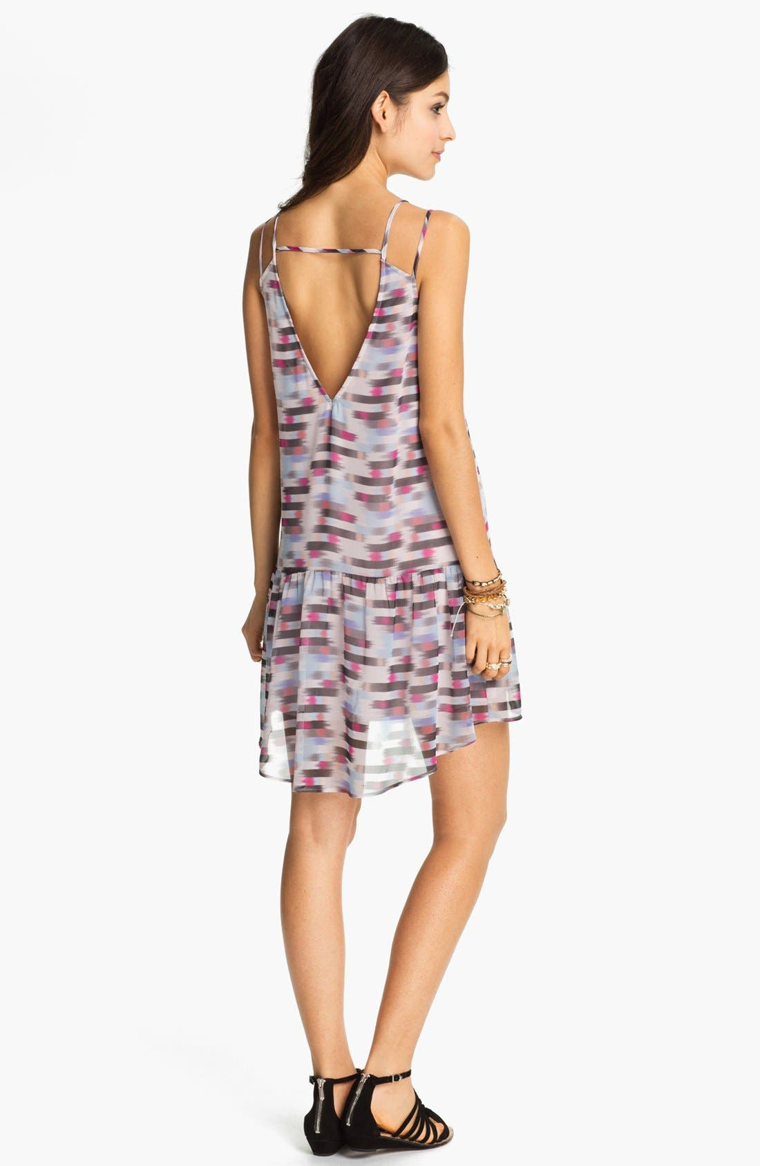 Alternate Image 2  - Lush Blur Print Drop Waist Dress (Juniors)