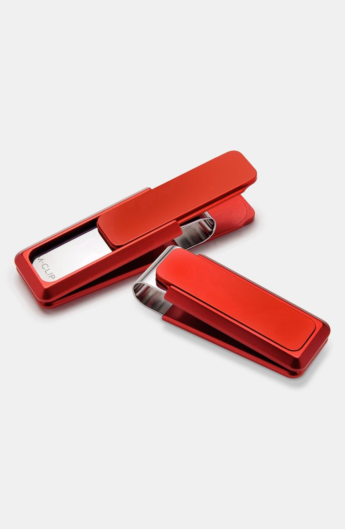'Ultralight V2' Money Clip,                         Main,                         color, Red