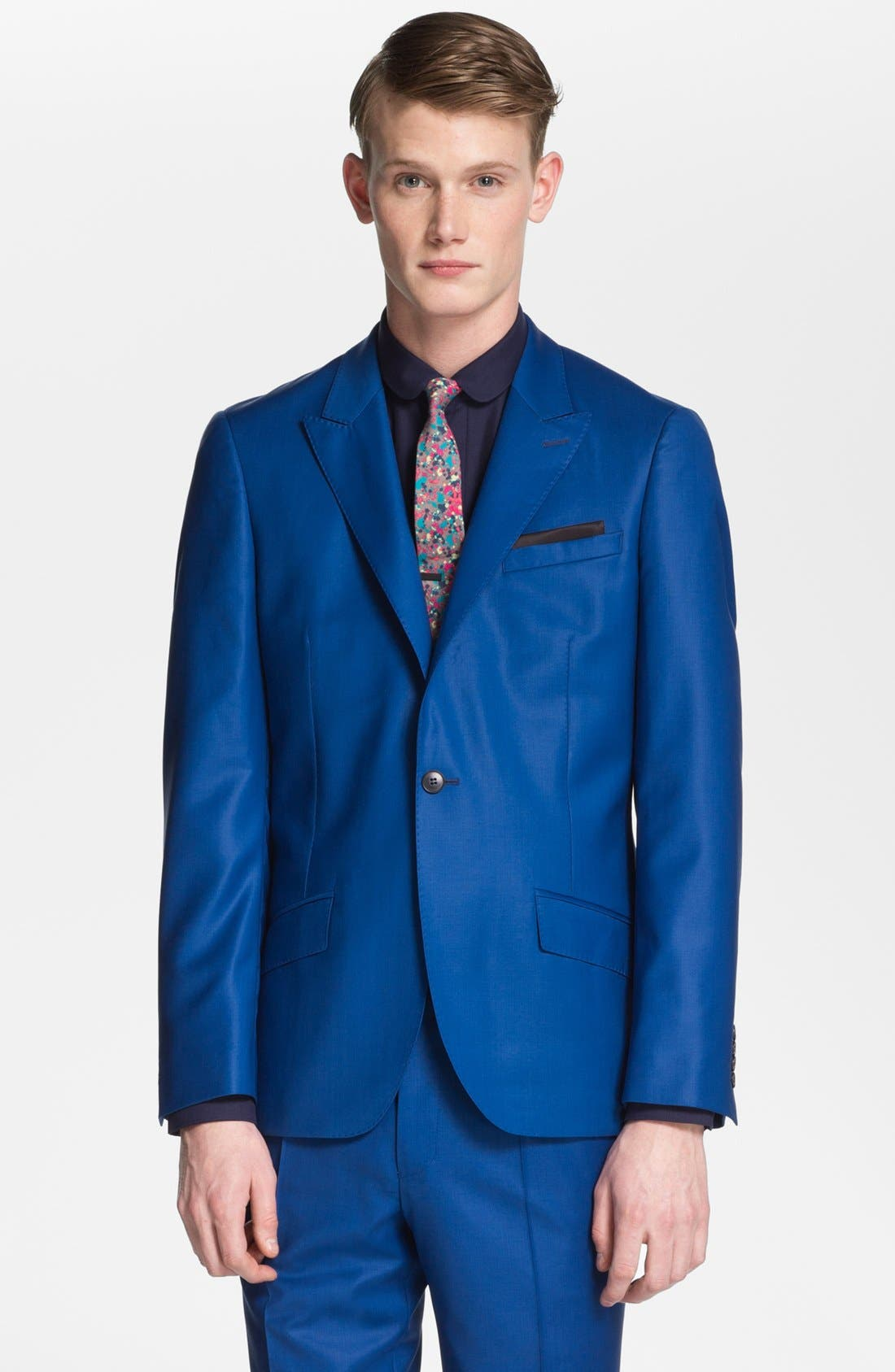 Main Image - Topman 'Lux Collection' Slim Fit Wool Blazer
