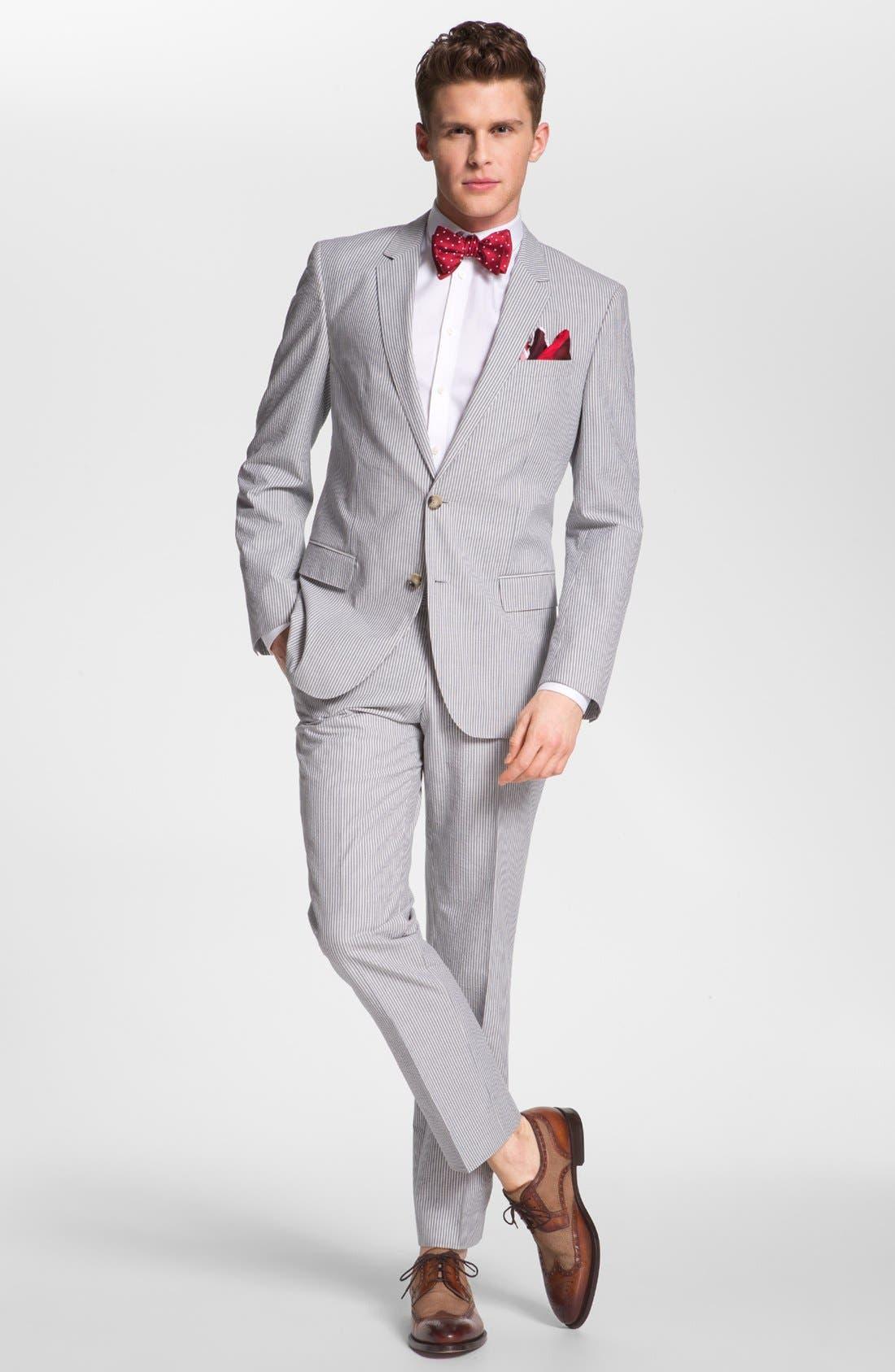 Alternate Image 2  - BOSS Black 'Hedge/Gense' Trim Fit Seersucker Suit
