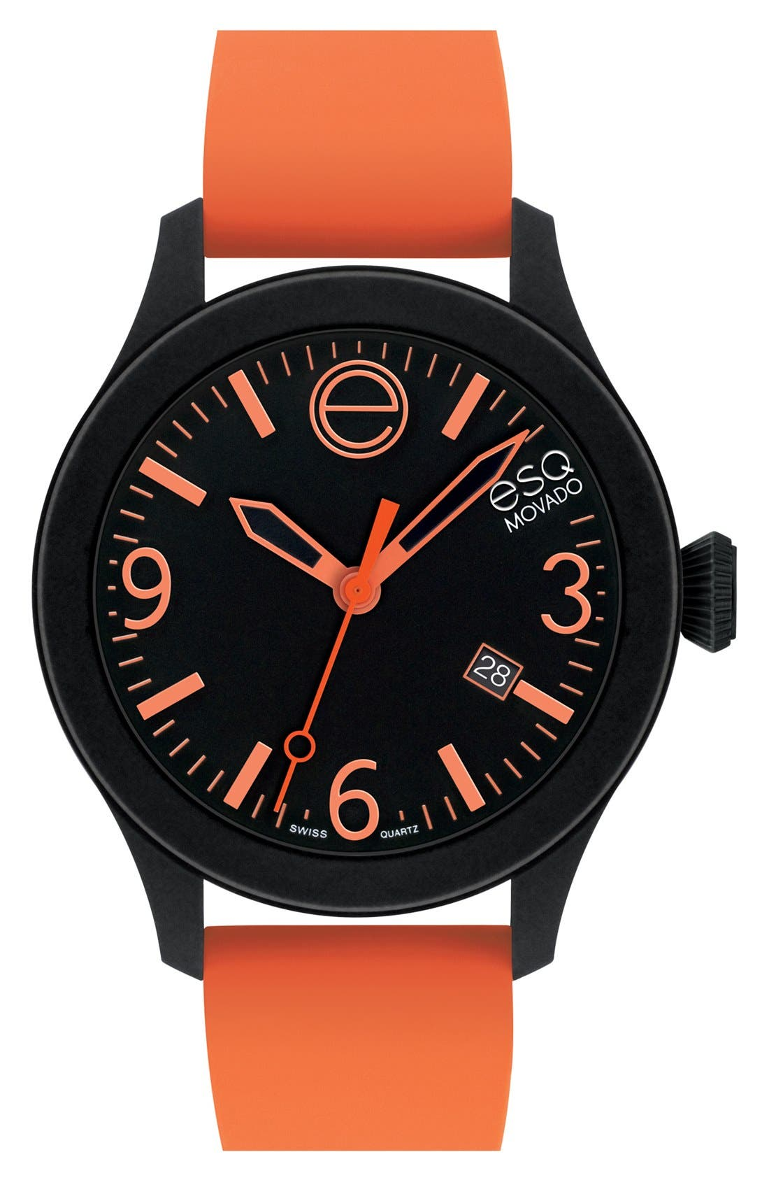 Main Image - ESQ Movado 'One' Silicone Strap Watch, 42mm