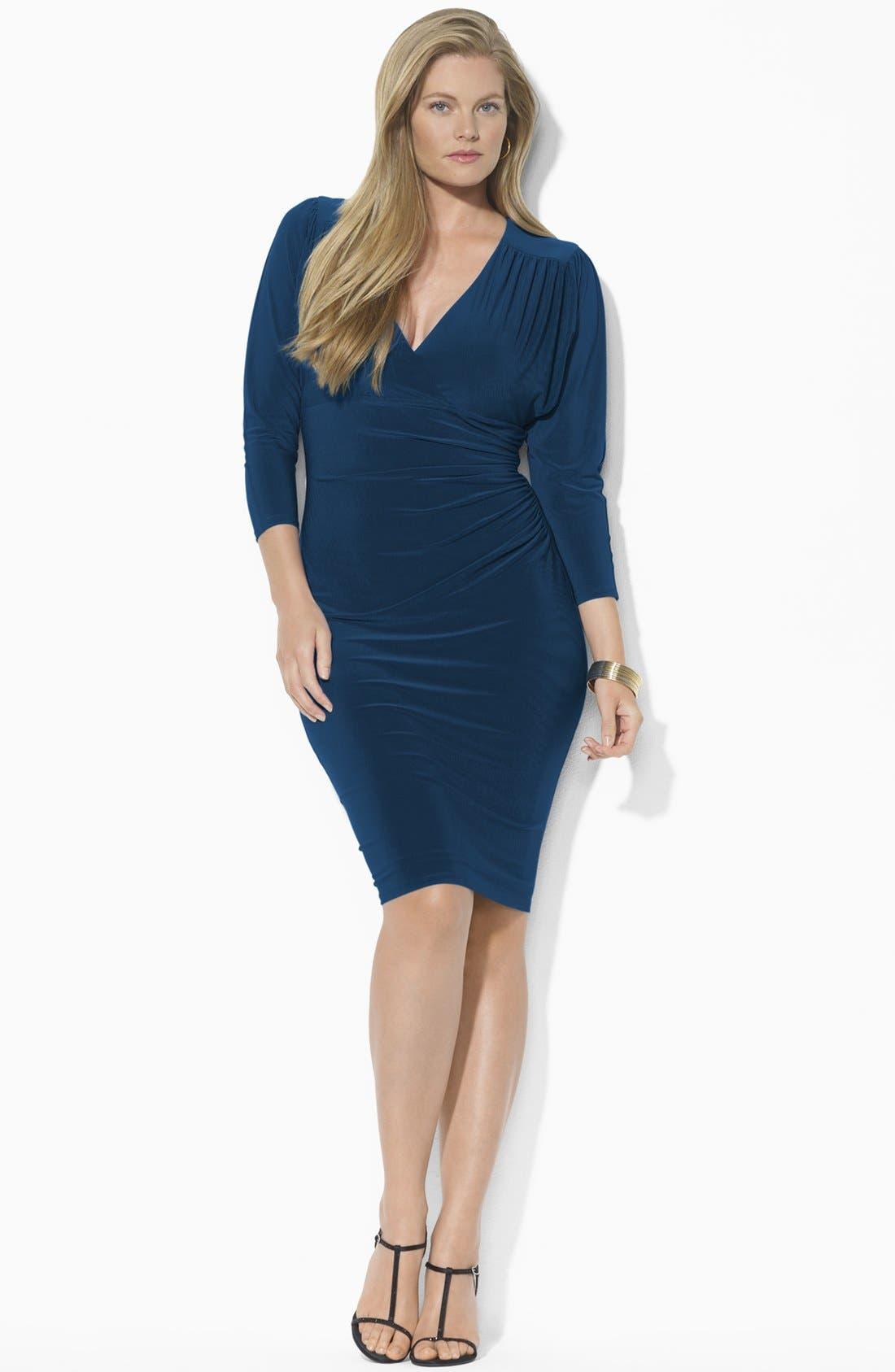 Alternate Image 3  - Lauren Ralph Lauren Draped Jersey Dress (Plus) (Online Only)