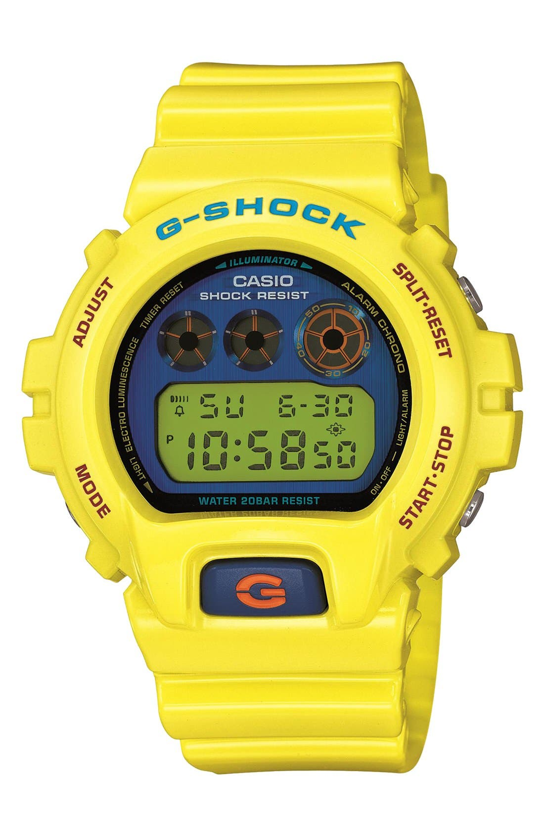 Alternate Image 1 Selected - G-Shock 'Polarized' Digital Watch, 53mm x 50mm