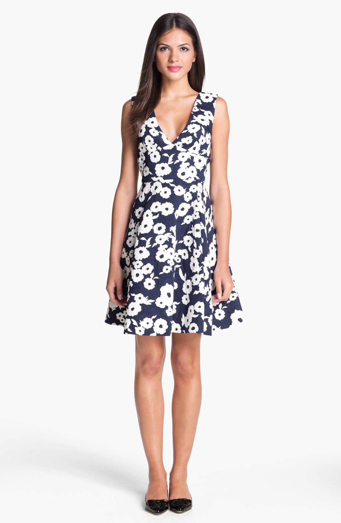 Main Image - kate spade new york 'martin' cotton fit & flare dress
