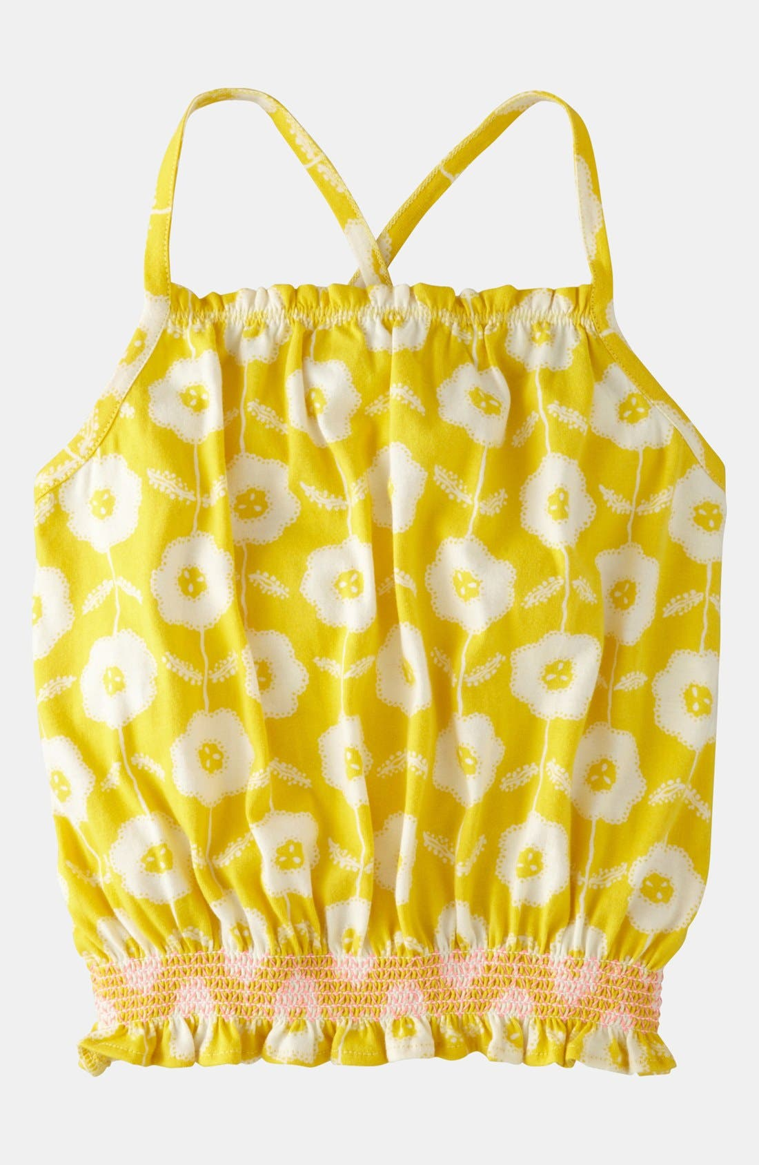 Main Image - Mini Boden 'Jersey Smocked' Top (Little Girls & Big Girls)