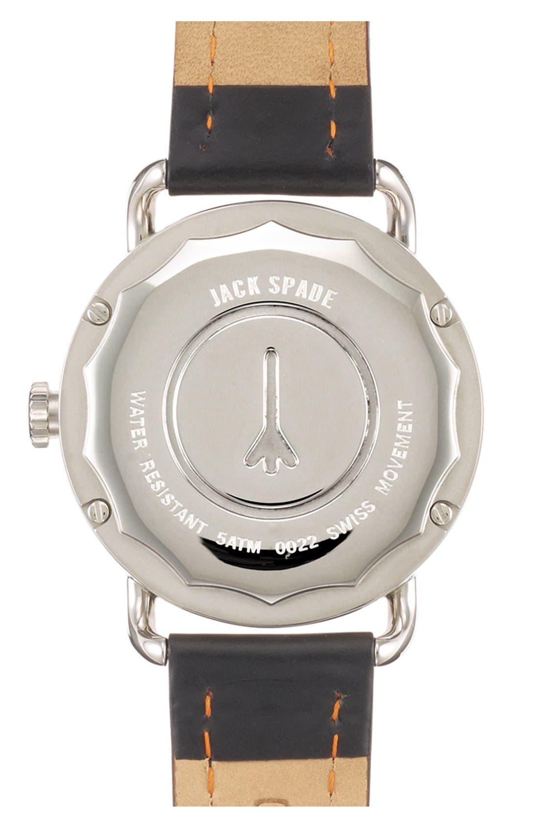 Alternate Image 2  - Jack Spade 'Classic Military - Stillwell' Round Watch, 38mm