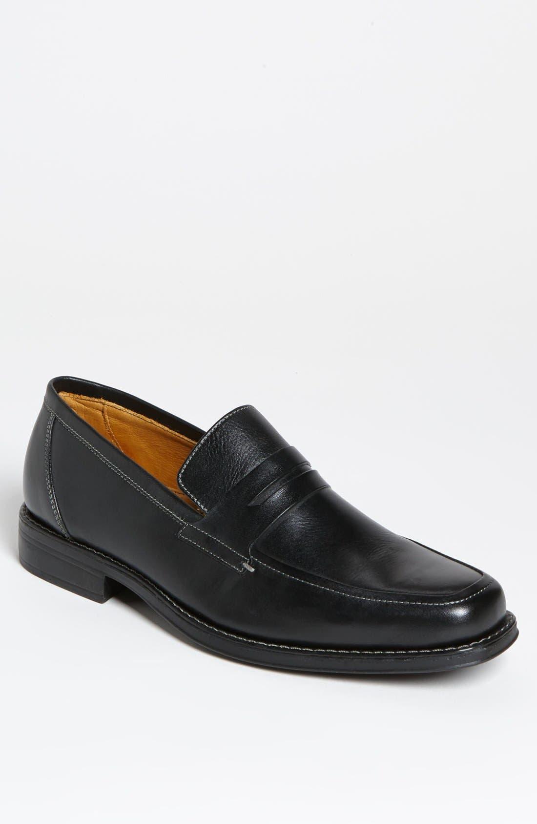 'Stuart' Penny Loafer,                         Main,                         color, Black