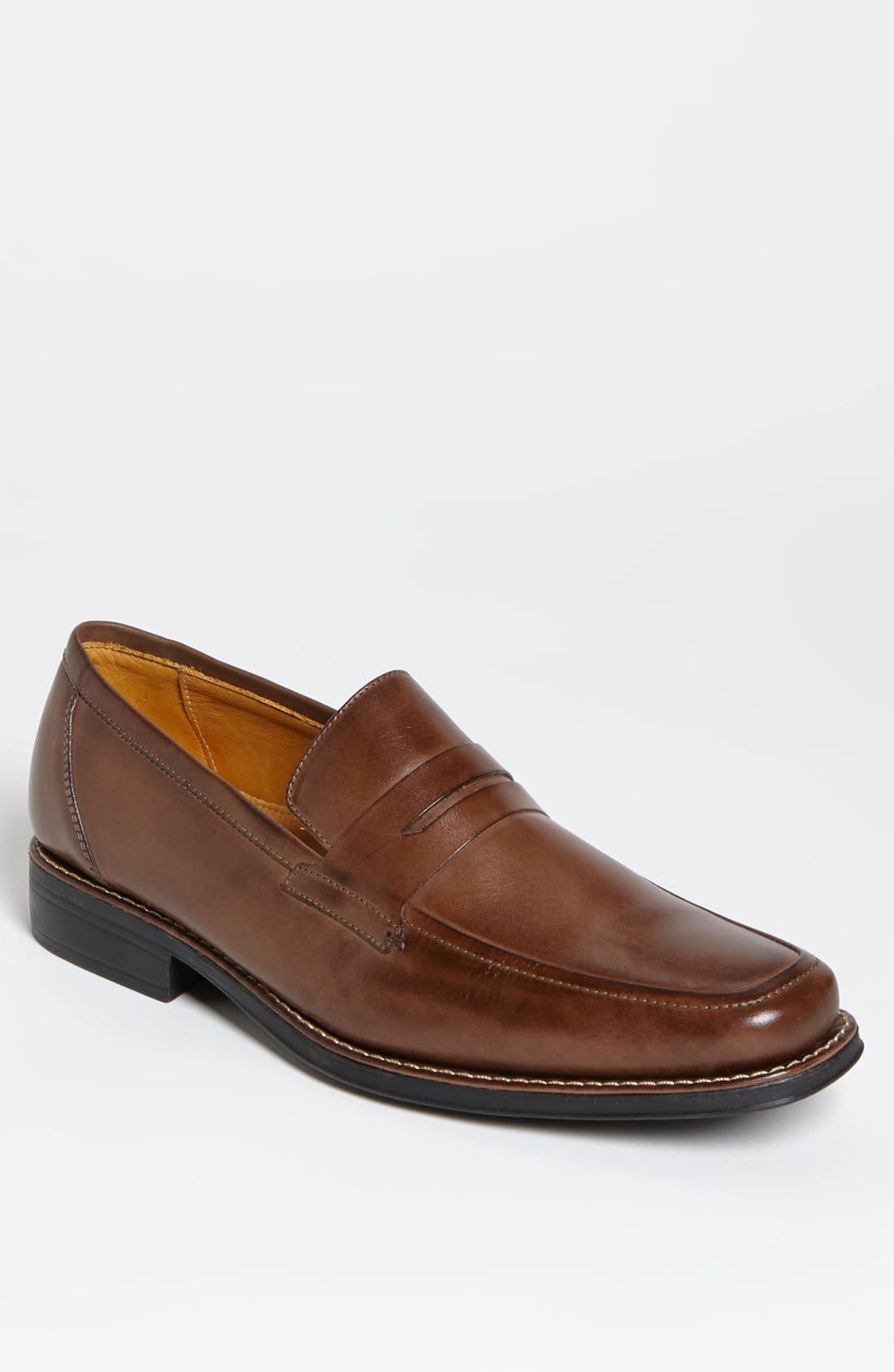 'Stuart' Penny Loafer,                             Main thumbnail 1, color,                             Brown
