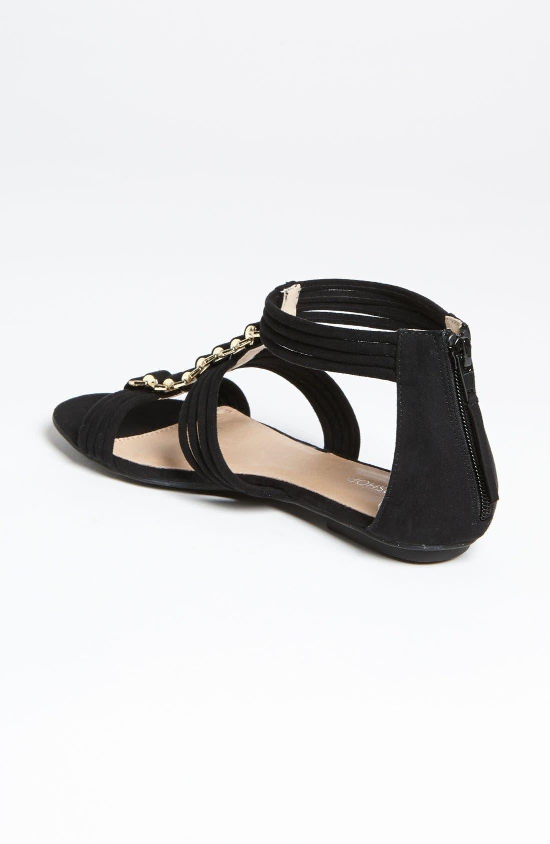 Alternate Image 2  - Topshop 'Helena' Metal Trim Sandal