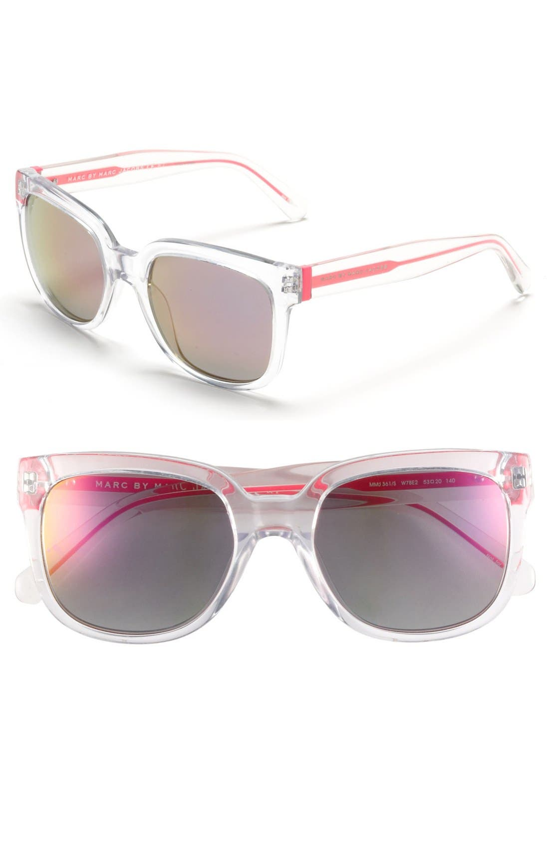 Alternate Image 1 Selected - MARC BY MARC JACOBS 53mm Retro Sunglasses