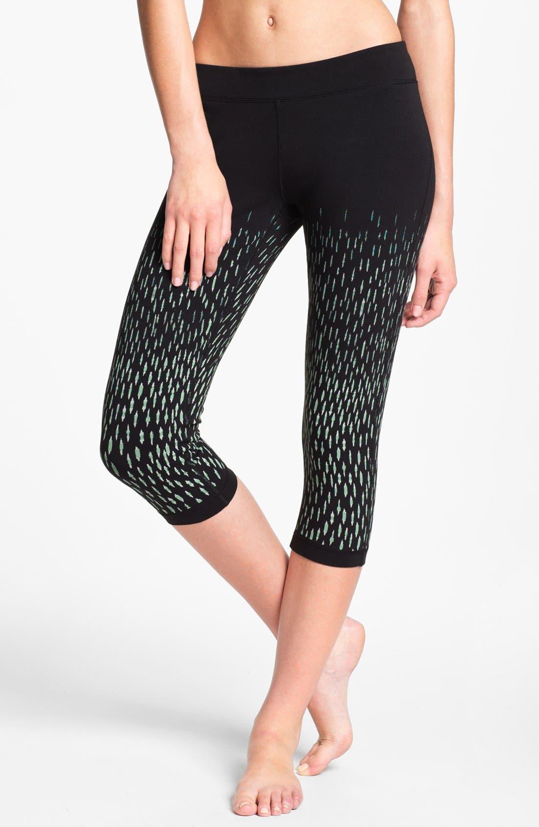 Main Image - Unit-Y 'Motivator' Print Capri Leggings