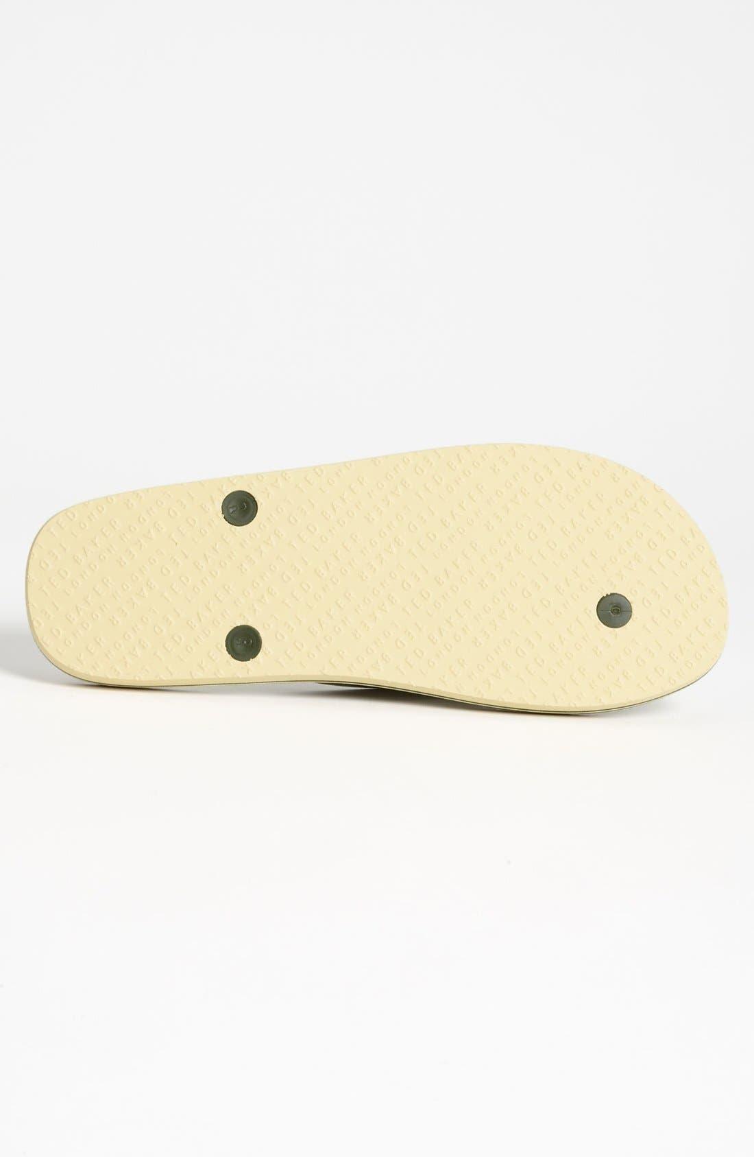 Alternate Image 4  - Ted Baker London 'Bual 3' Flip Flop (Men) (Online Only)