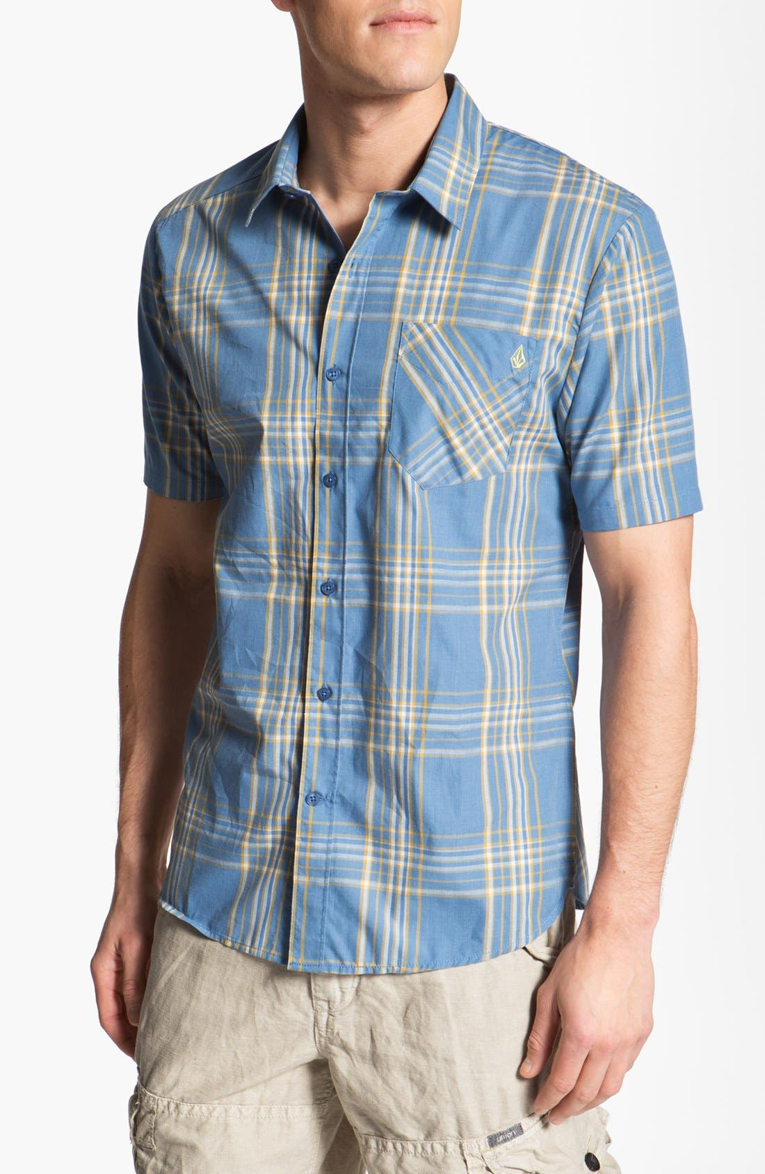 Alternate Image 1 Selected - Volcom 'Why Factor' Plaid Woven Shirt