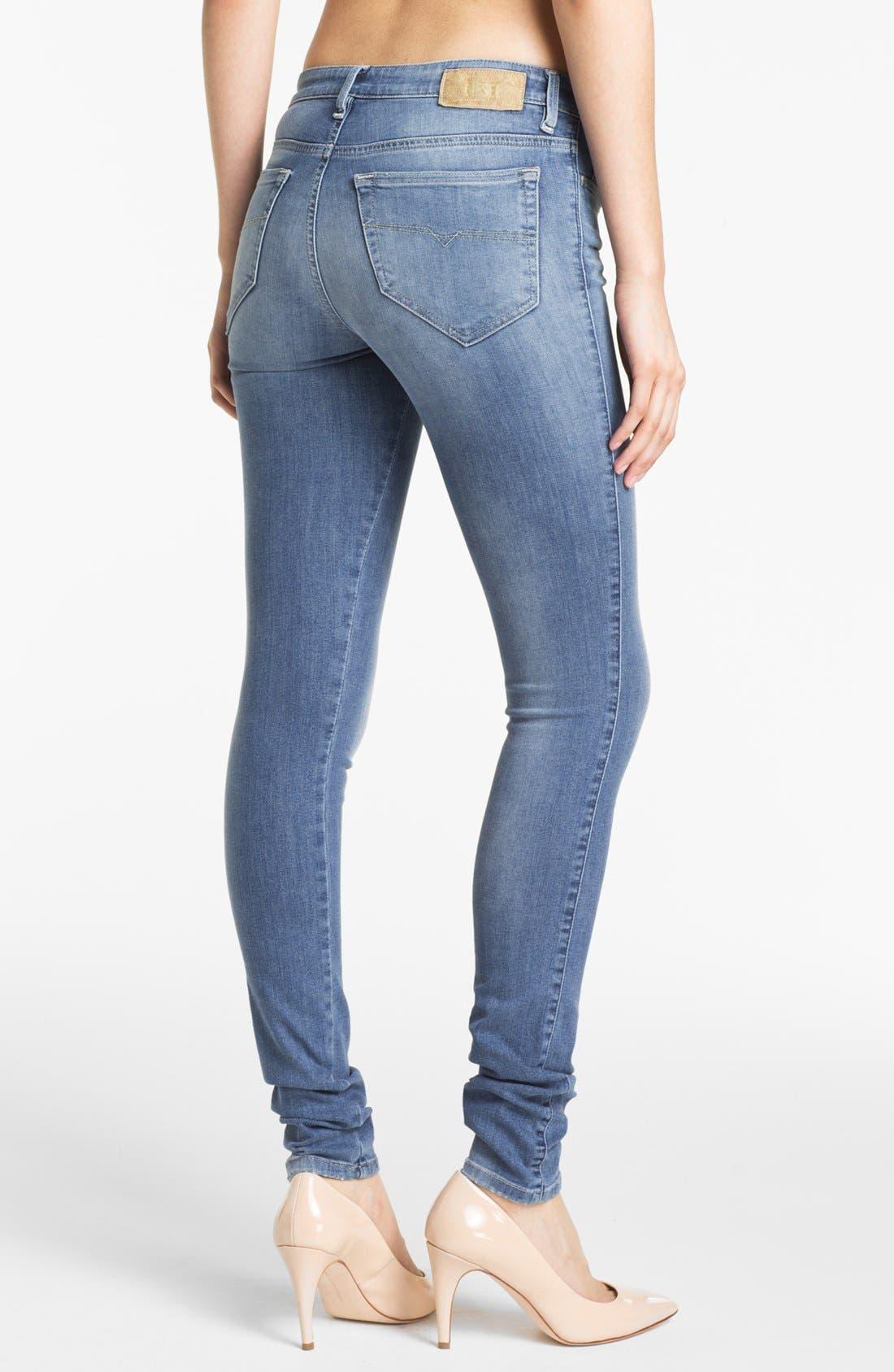Alternate Image 2  - DIESEL® 'Skinzee' Stretch Skinny Jeans (Light Denim)