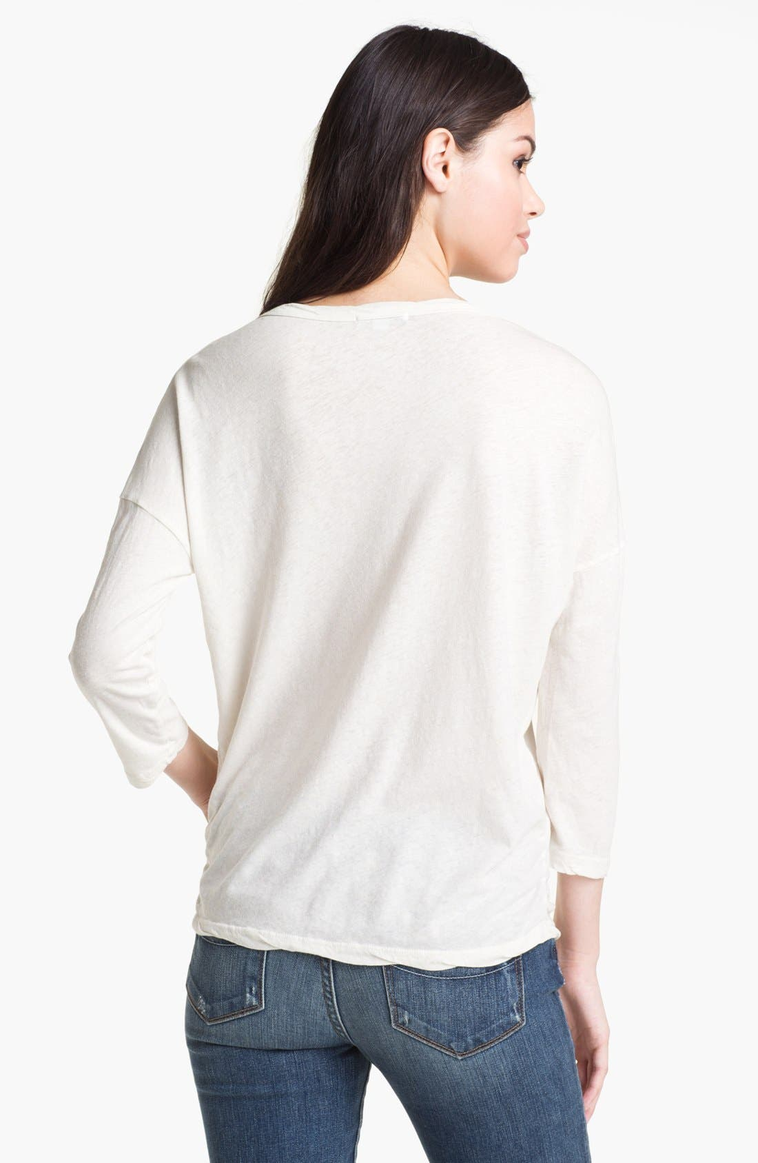Alternate Image 2  - James Perse Relaxed Deep V Top