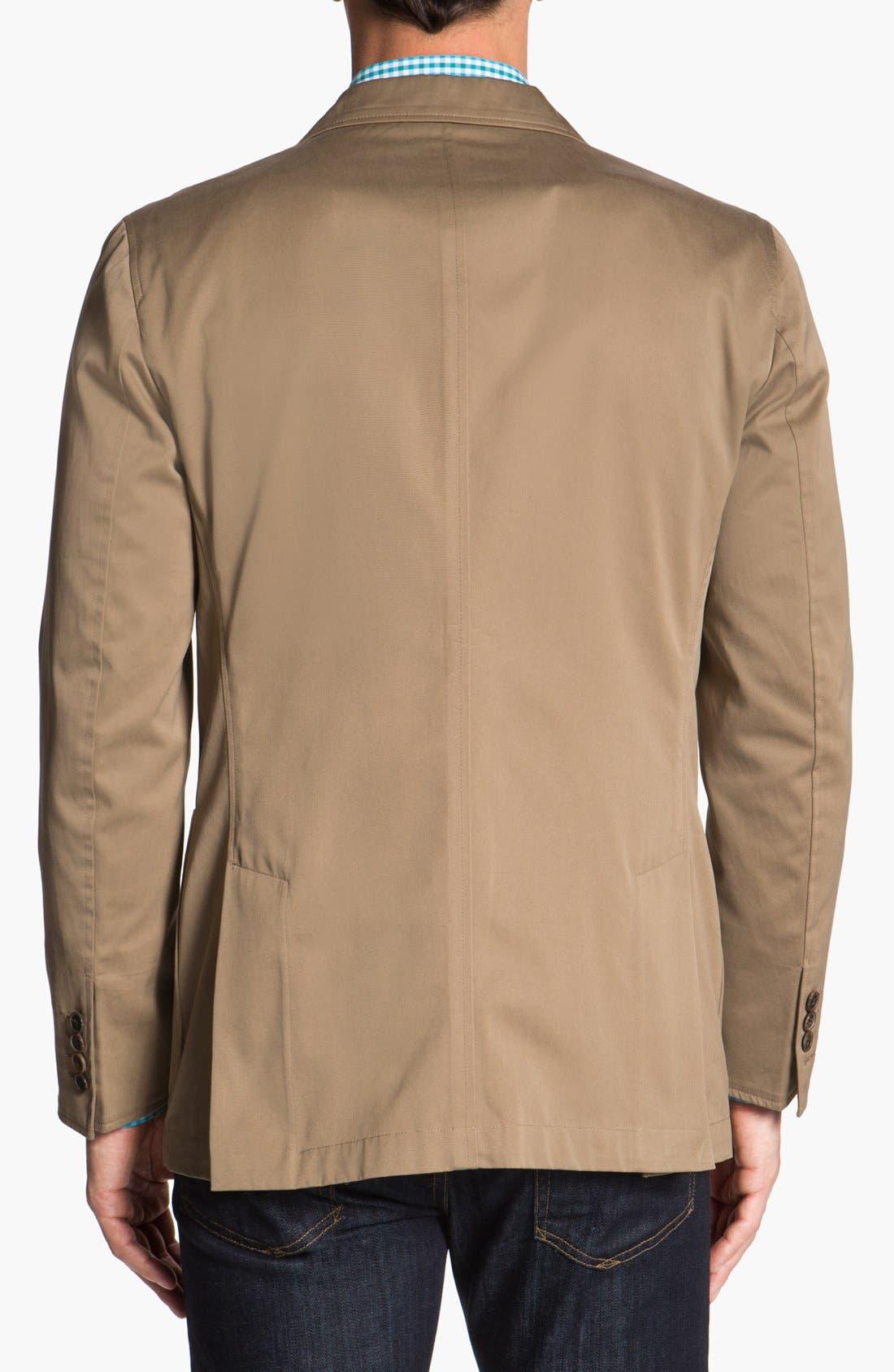 Alternate Image 2  - Joseph Abboud Trim Fit Cotton Blazer