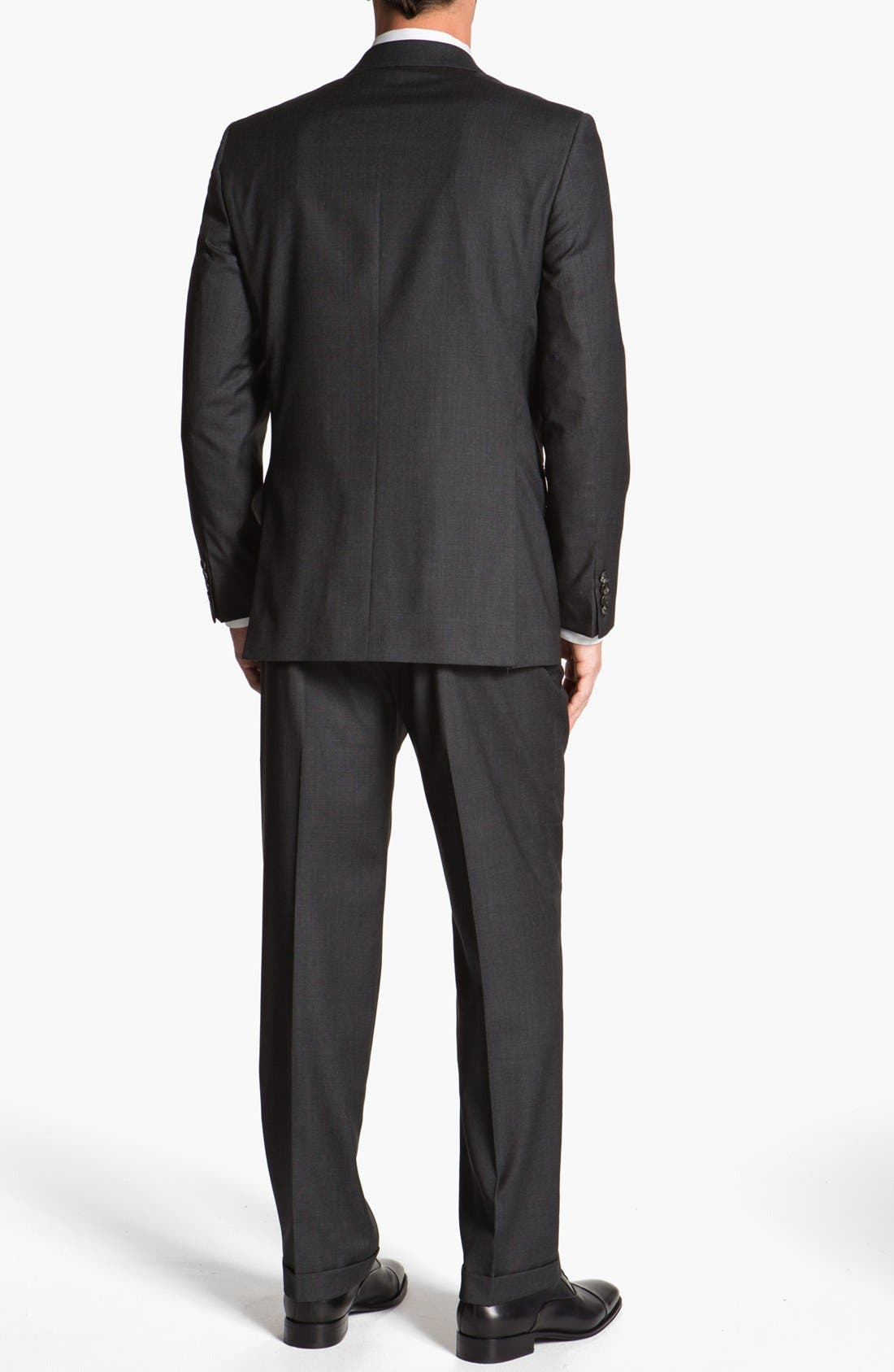 Alternate Image 3  - Joseph Abboud 'Signature Silver' Plaid Wool Suit (Online Only)