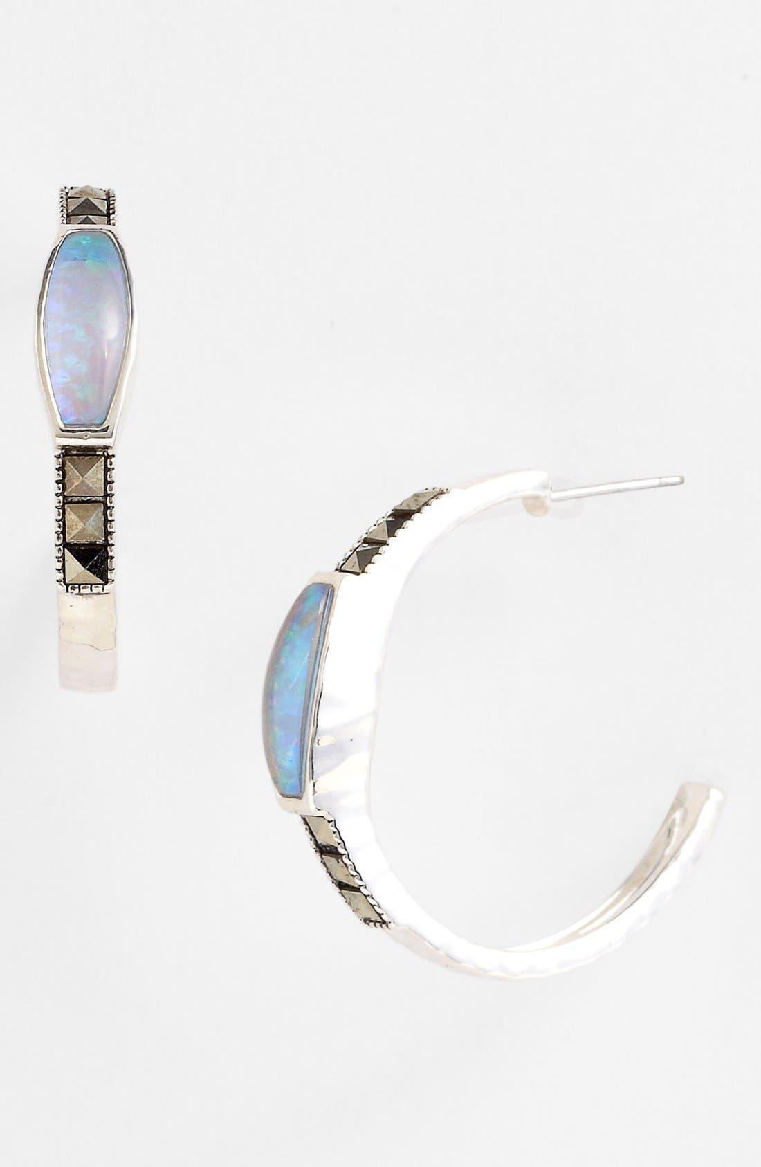 Alternate Image 1 Selected - Judith Jack Hoop Earrings