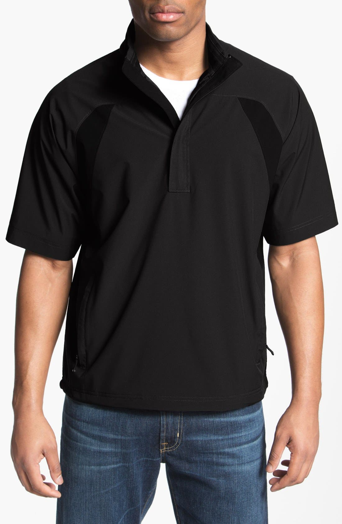 Main Image - Cutter & Buck 'Vital' Quarter Zip Short Sleeve Mid Layer