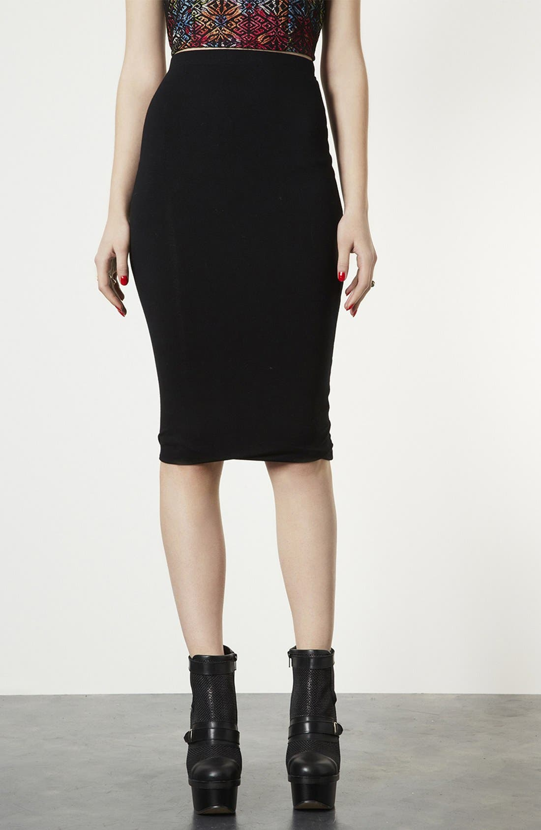Alternate Image 1 Selected - Topshop Knee-Length Tube Skirt