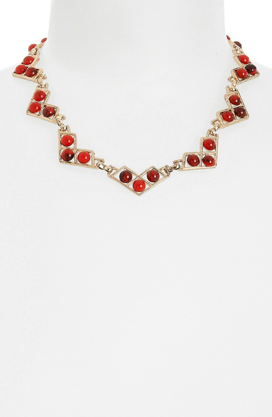 Alternate Image 1 Selected - Topshop 'Zig Zag Stones' Collar Necklace