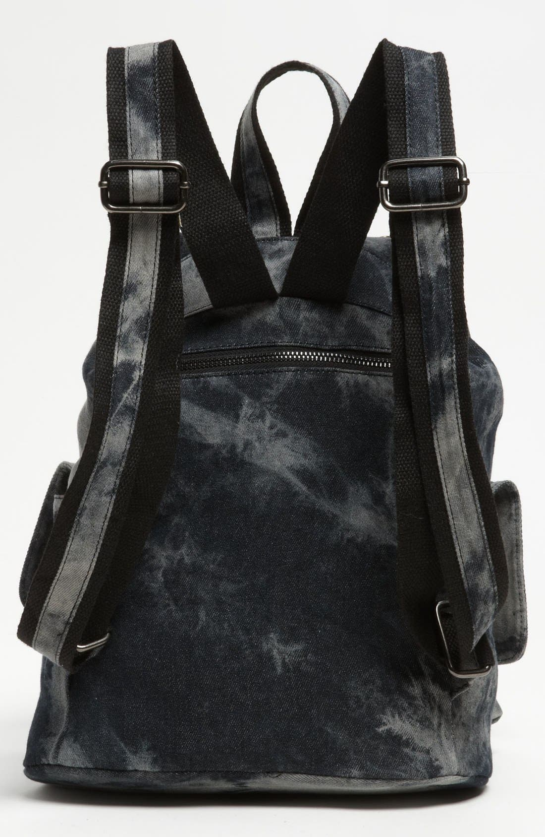 Alternate Image 4  - De L'avion Studded Acid Wash Backpack
