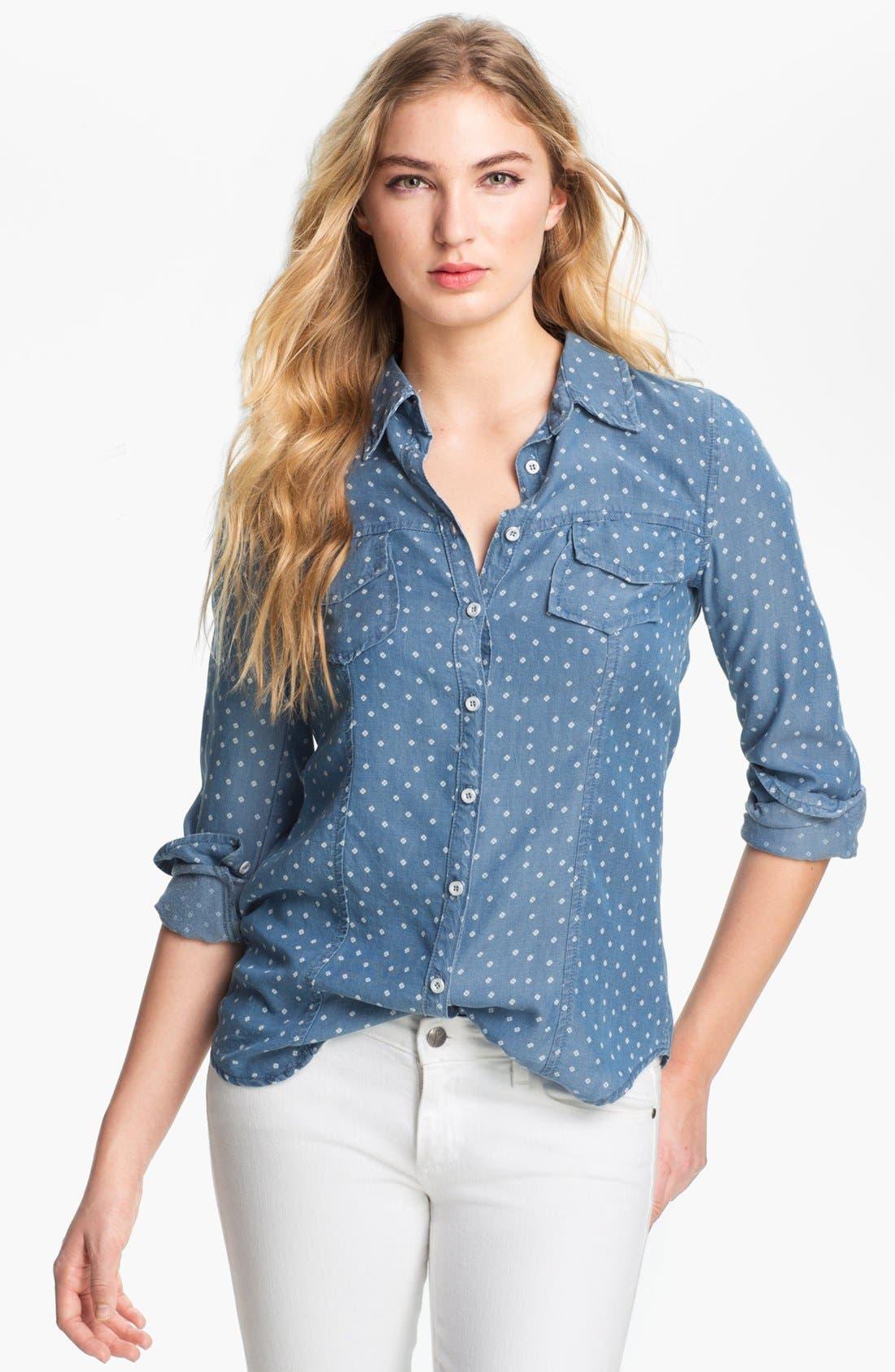 Alternate Image 1 Selected - Splendid Ditsy Print Chambray Shirt