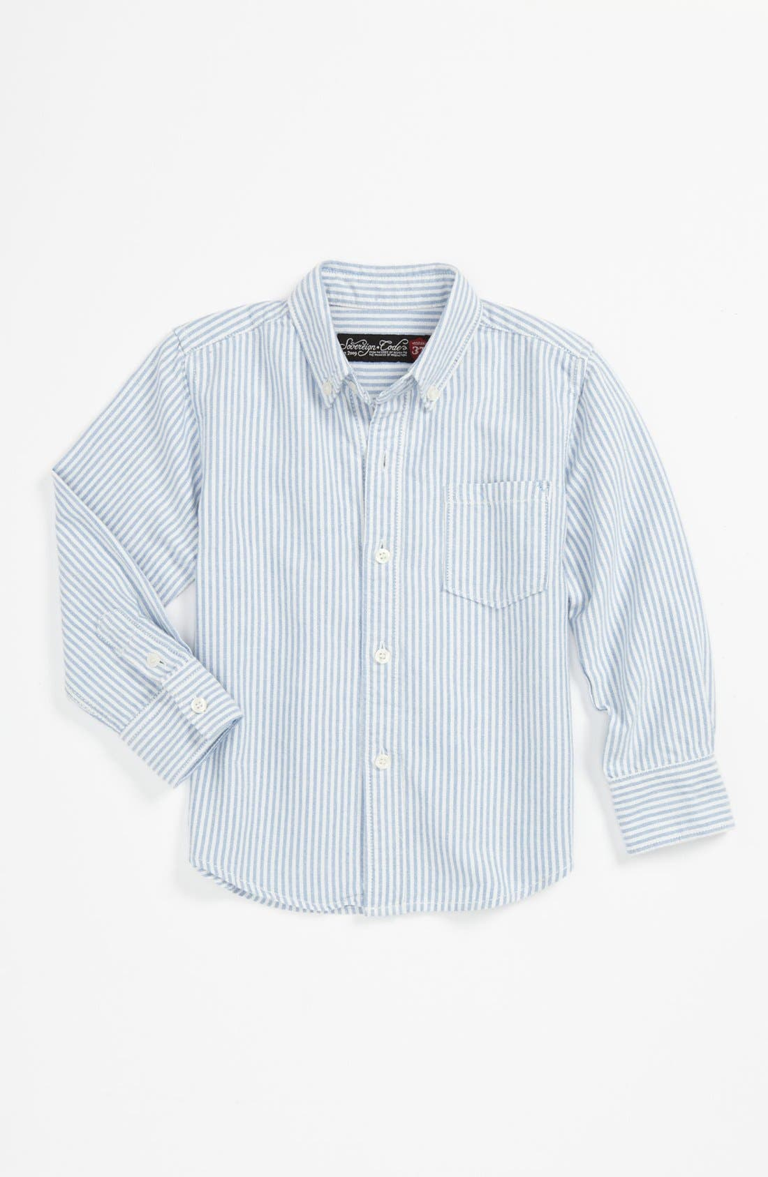 Main Image - Sovereign Code Oxford Cloth Woven Shirt (Toddler)
