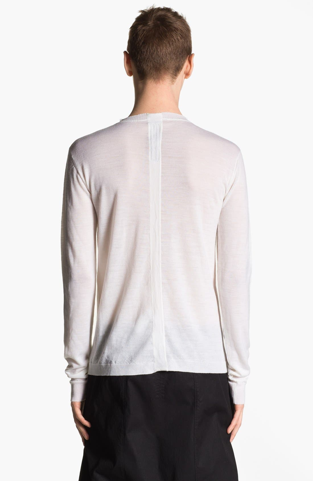 Alternate Image 2  - Rick Owens 'Island' Crewneck Merino Wool Sweater