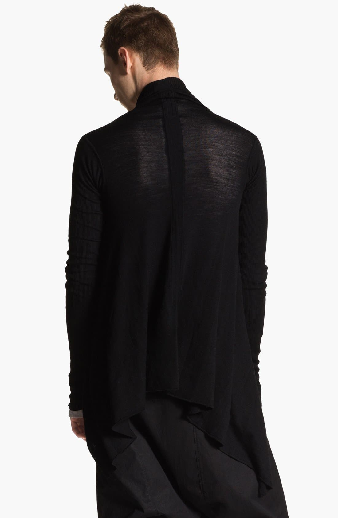Alternate Image 2  - Rick Owens 'Island' Open Shawl Collar Sweater