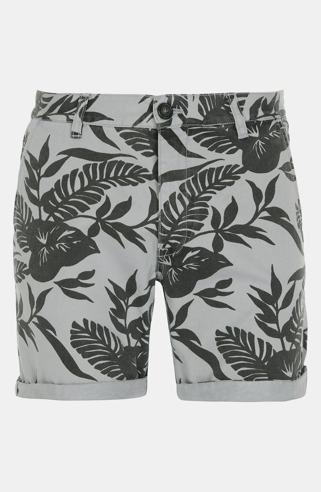Alternate Image 1 Selected - Topman 'Okavango' Print Shorts