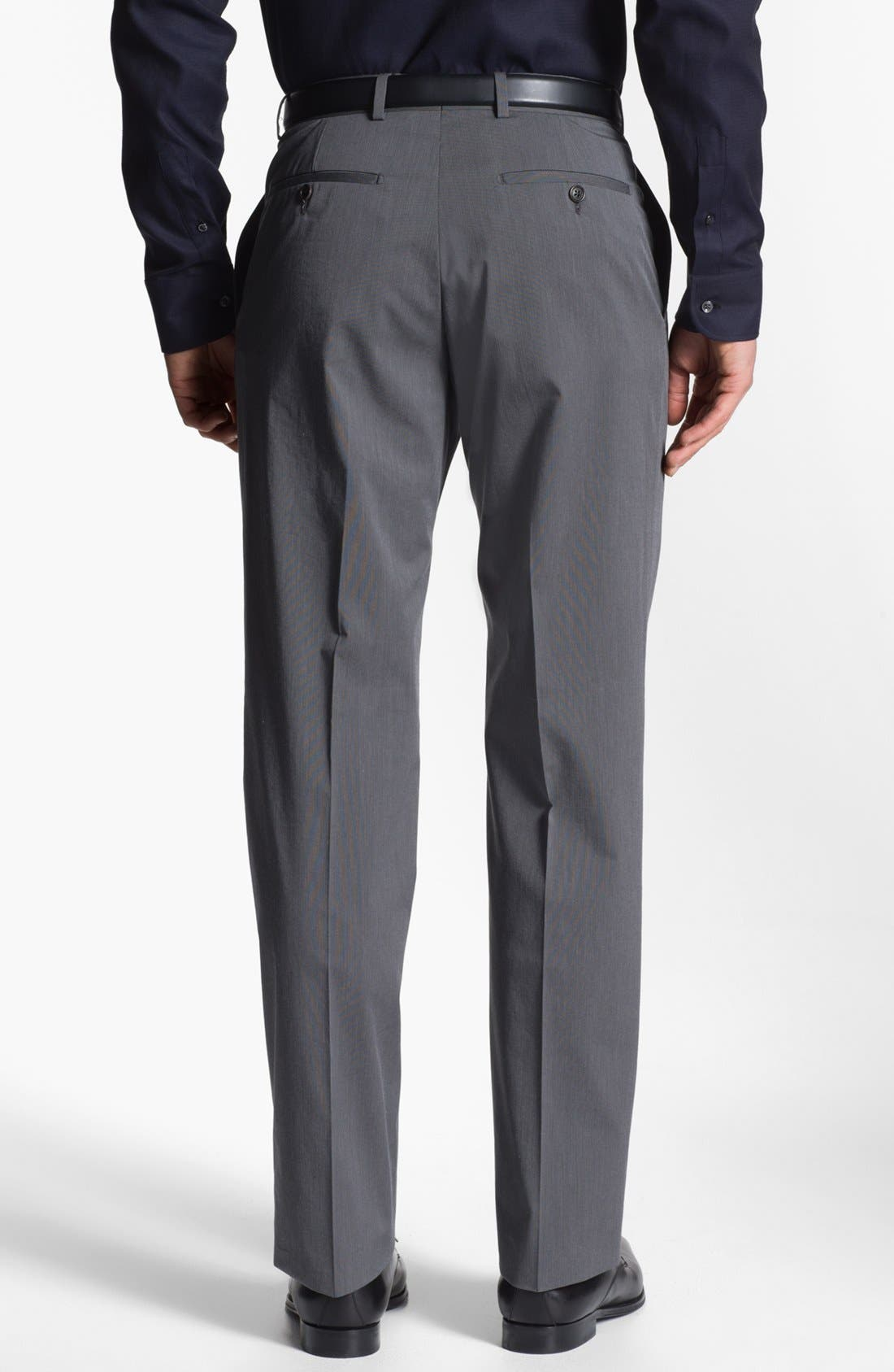 Alternate Image 2  - Armani Collezioni Stretch Flat Front Trousers
