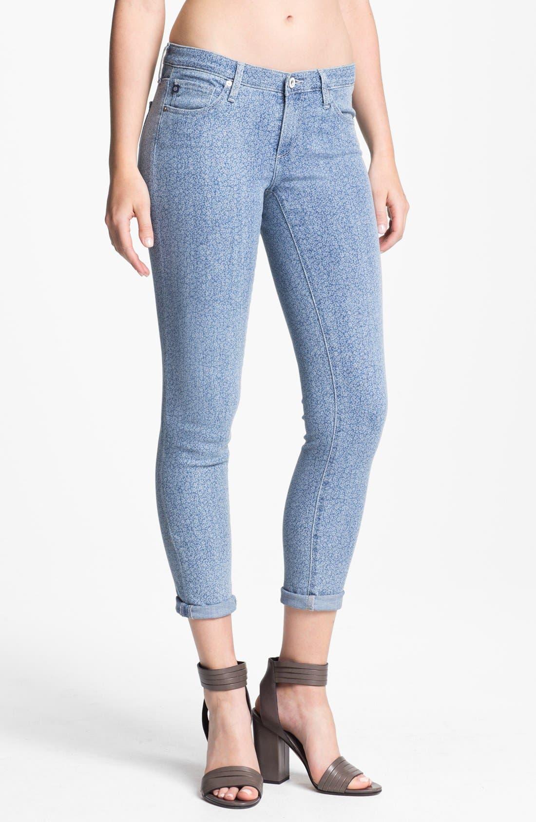 Alternate Image 1 Selected - AG Jeans 'Liberty of London' Print Denim Ankle Legging (Denim Isla)