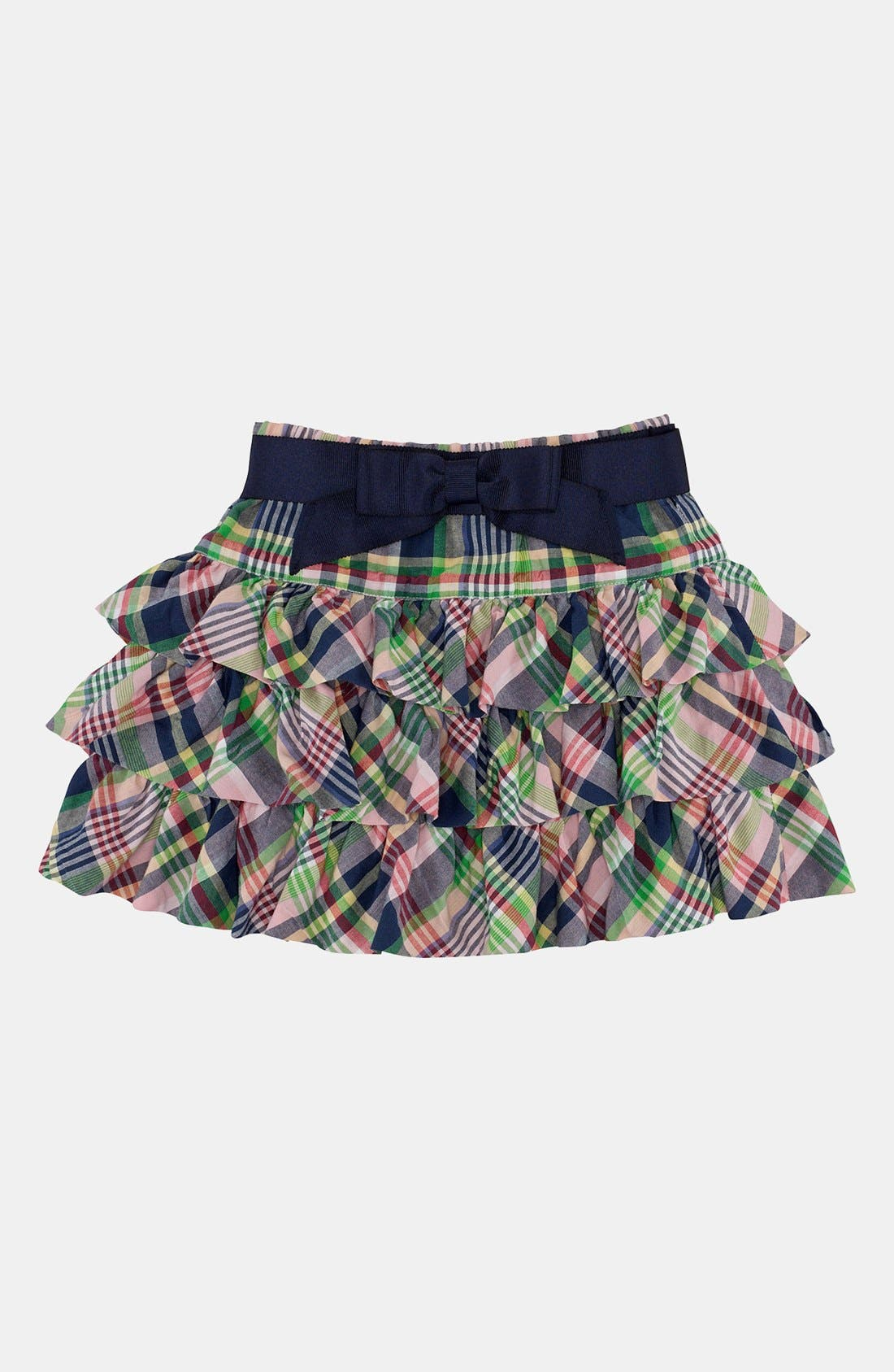 Main Image - Ralph Lauren Plaid Skirt (Toddler)