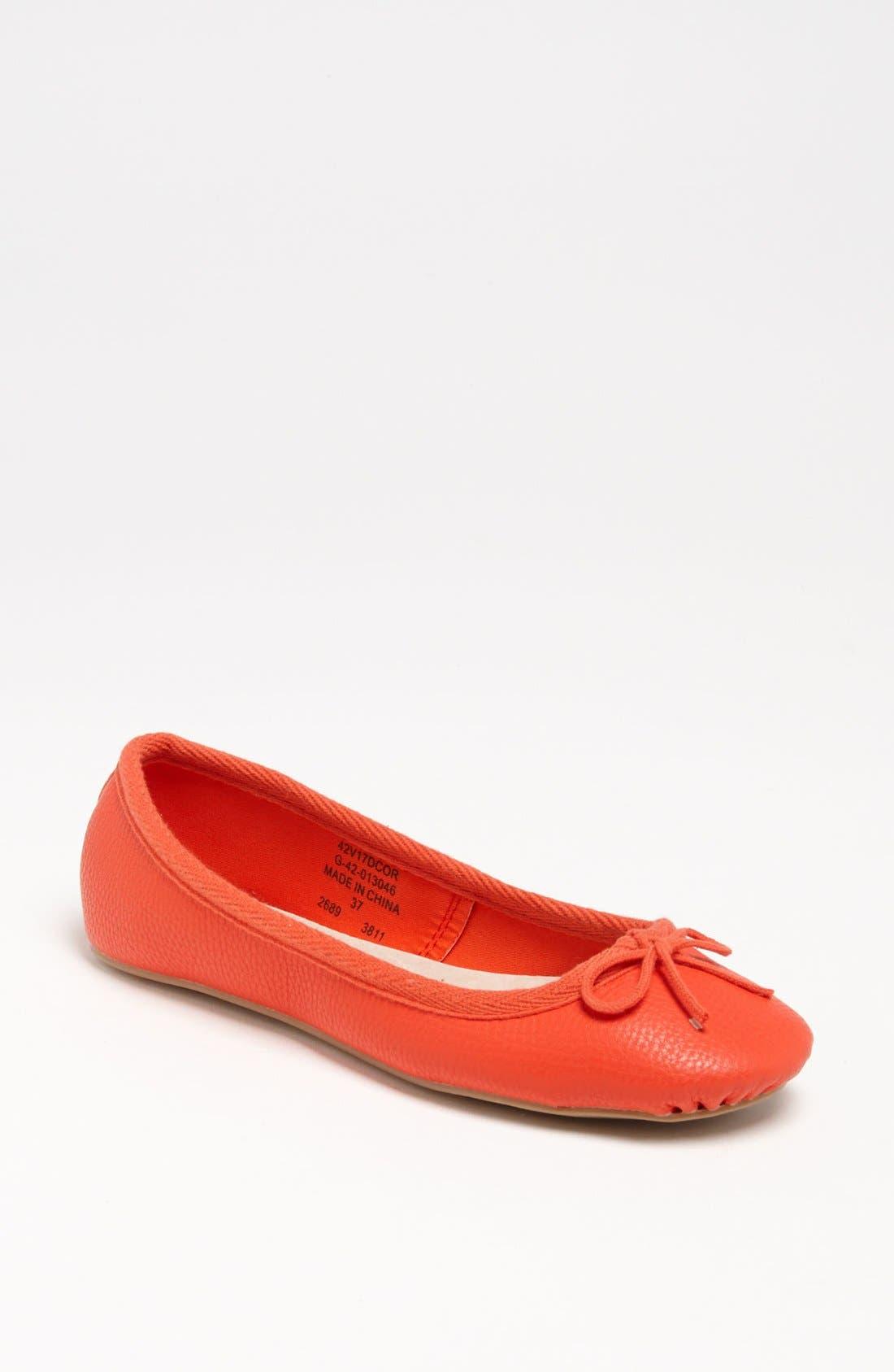 Main Image - Topshop 'Vibrant Tumbled' Ballerina Flat