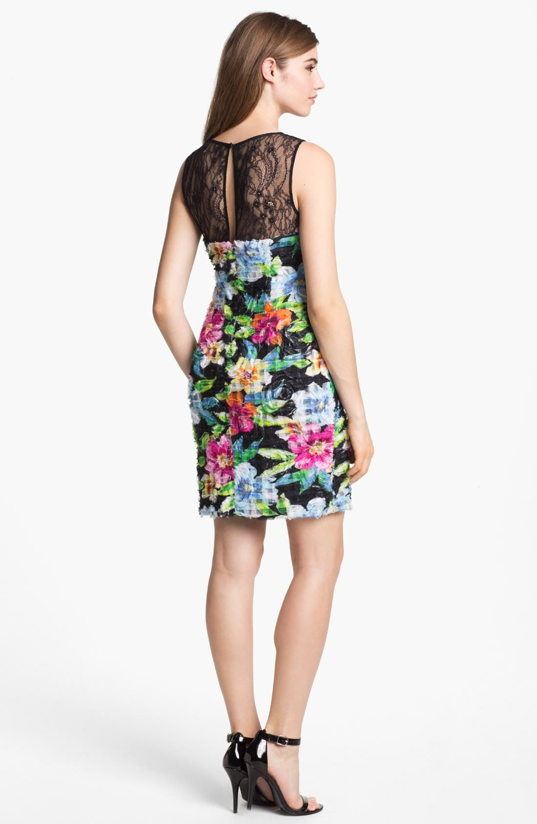 Alternate Image 2  - Aidan Mattox Floral Print Sheath Dress