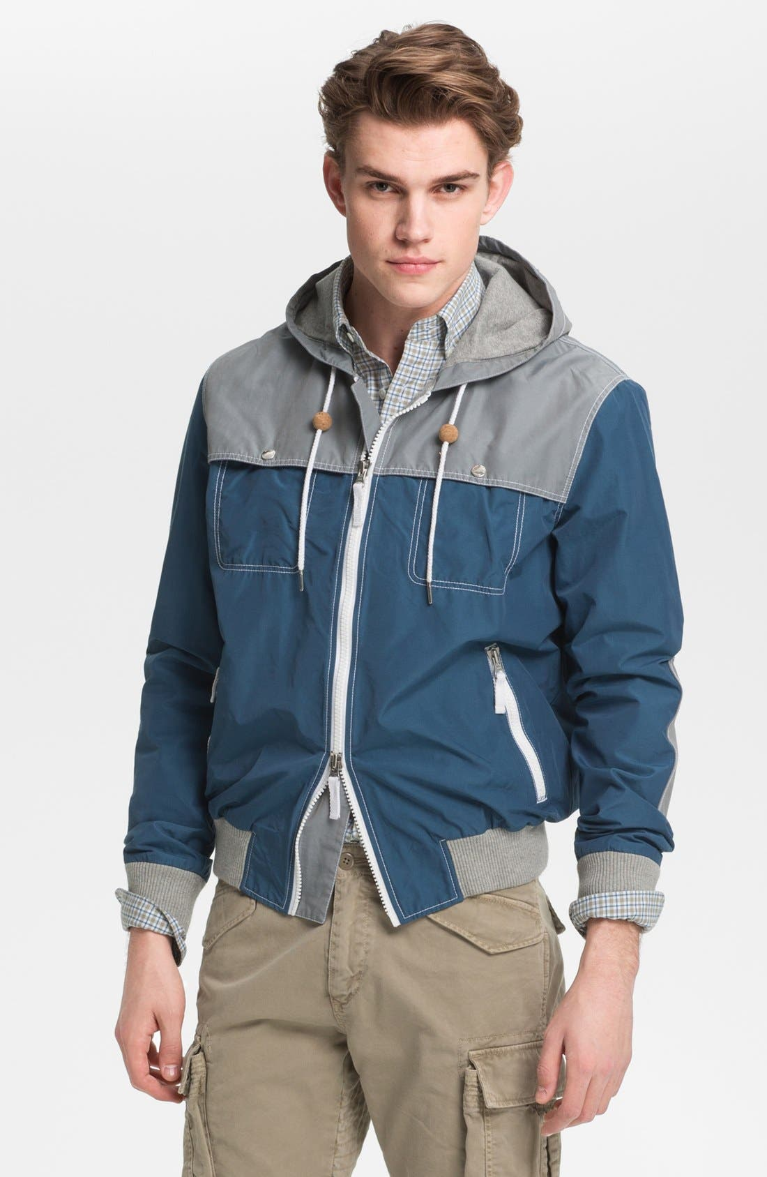 Alternate Image 1 Selected - Gant by Michael Bastian Hooded Windbreaker