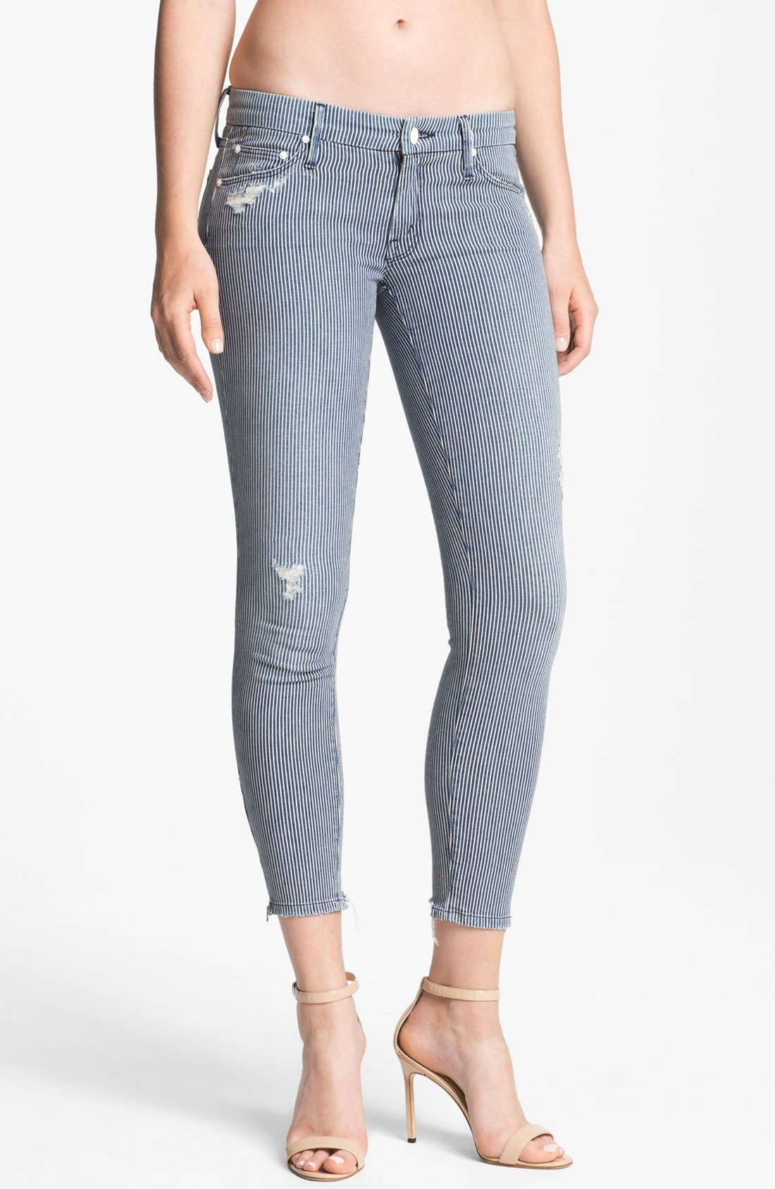 Main Image - MOTHER 'The Looker' Skinny Stretch Jeans (On The Road Destroyed)