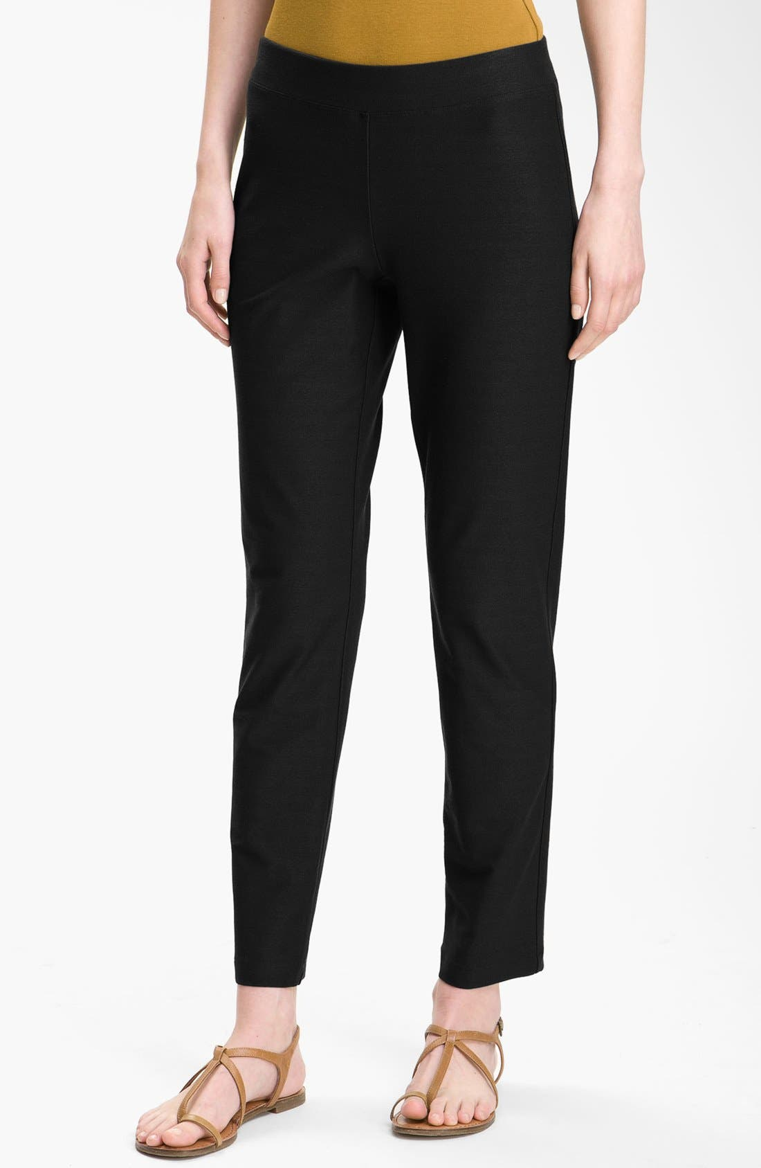 Alternate Image 1 Selected - Eileen Fisher Slim Ankle Pants (Regular & Petite)
